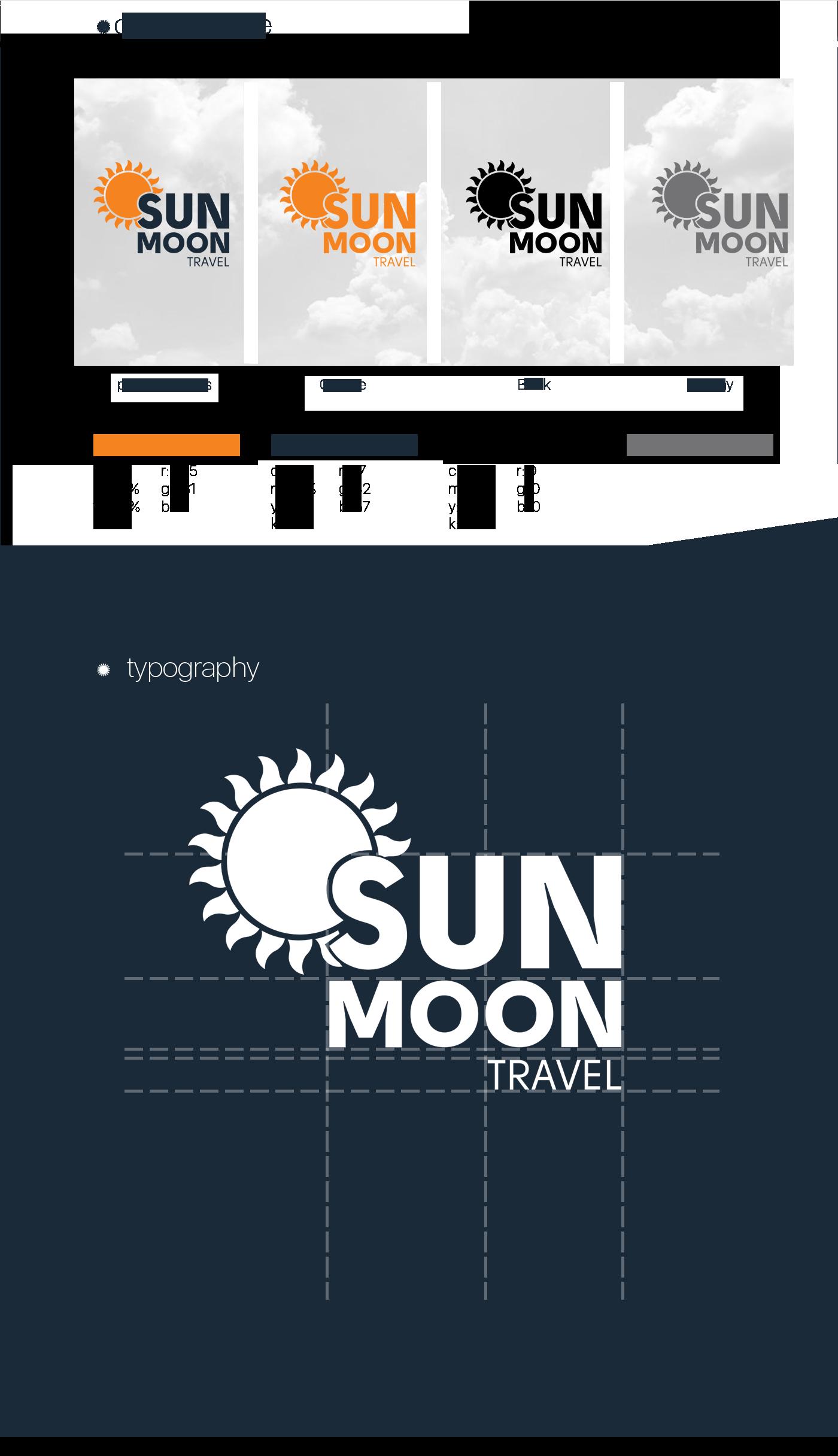 Travel branding  Sun moon traveling cruise baku azerbaijan