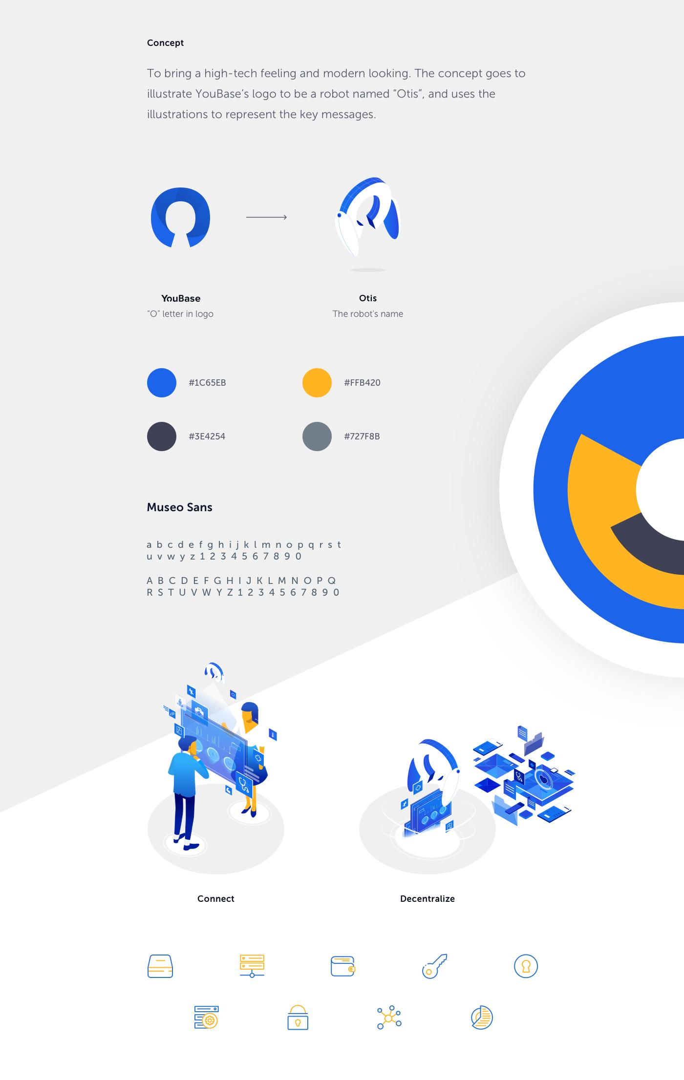 connect data gif health home ILLUSTRATION  information landing page redesign robot vietnam website blockchain