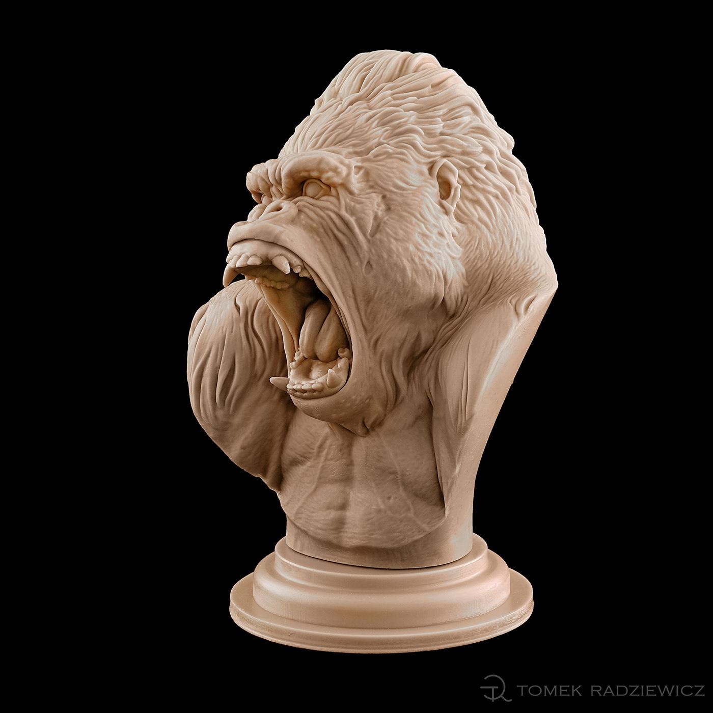 design gorilla sculpture