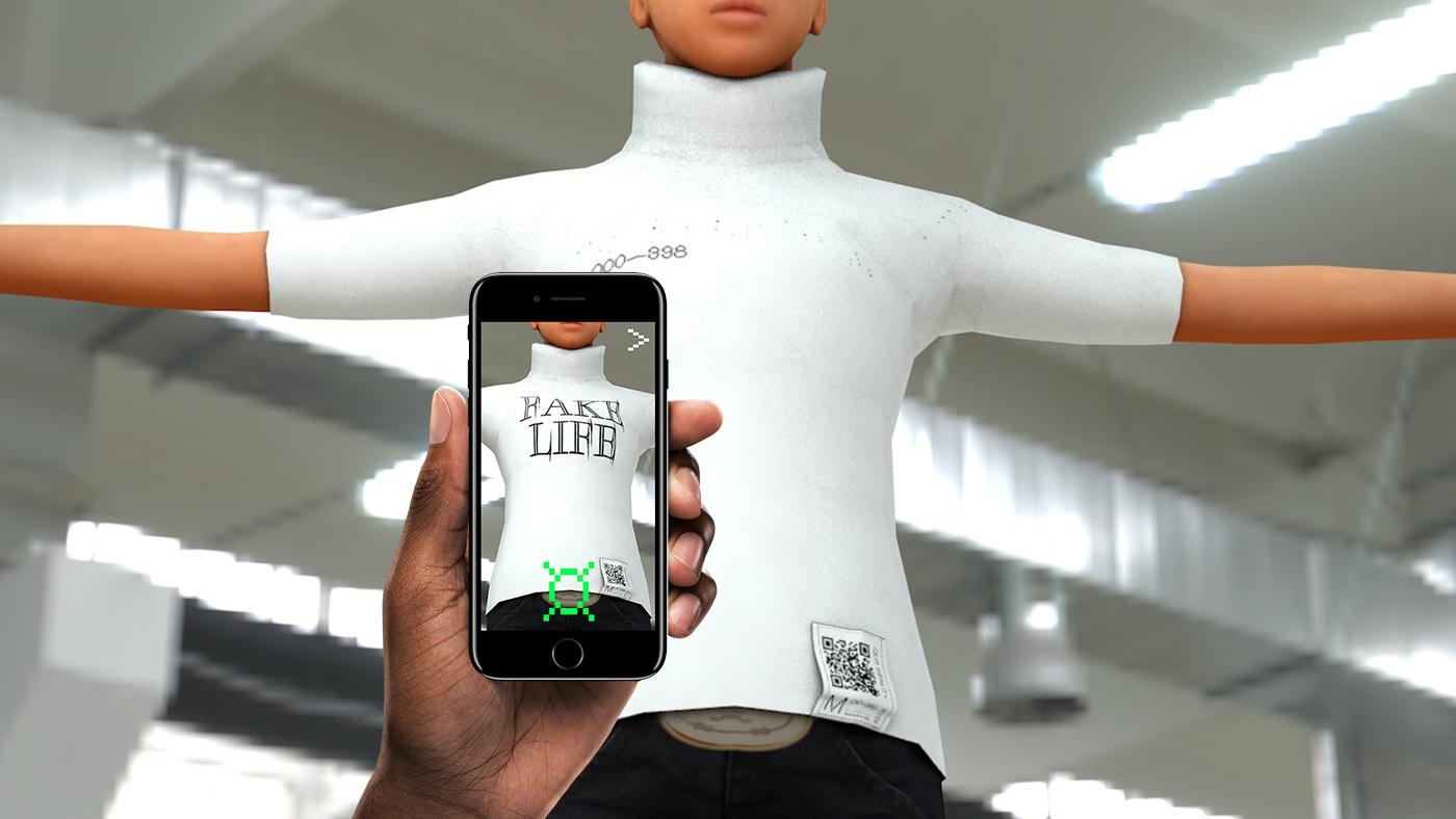 reality future vr Fashion  c4d cloth animation  graphicdesign branding  identity