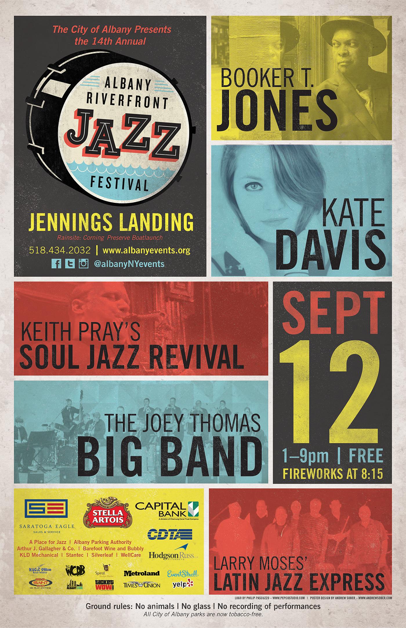 poster,jazz,festival,riverfront,Albany,New York,Music Fesitval