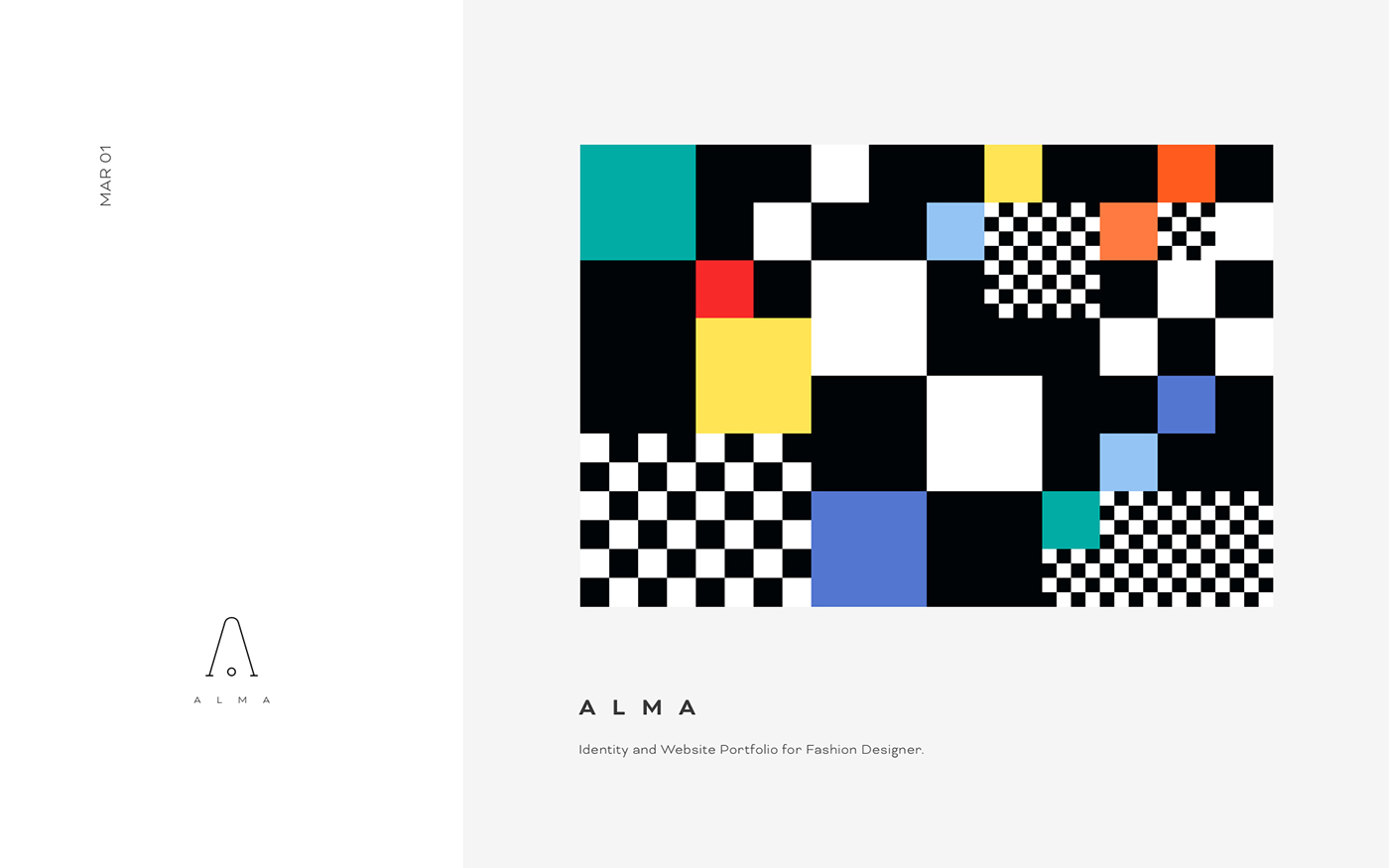 Alma Fashion Designer Website On Behance