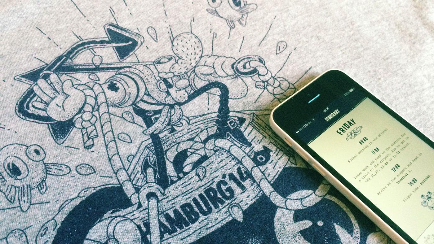 app iphone hamburg map list nautical Sailor fish anchor Squid Guidebook itinerary