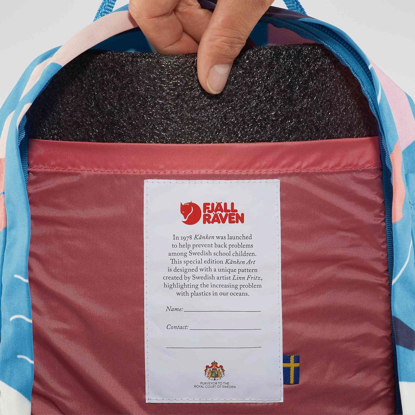 art backpack Fashion  Fjällräven ILLUSTRATION  kanken Ocean patter plastic
