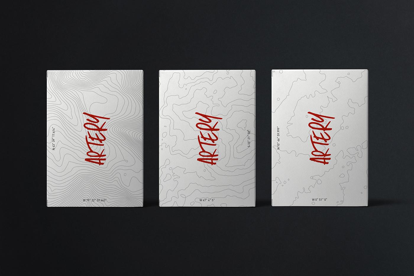 artery Topographic maps coordinates Global artisans Generations art craft kraft paper