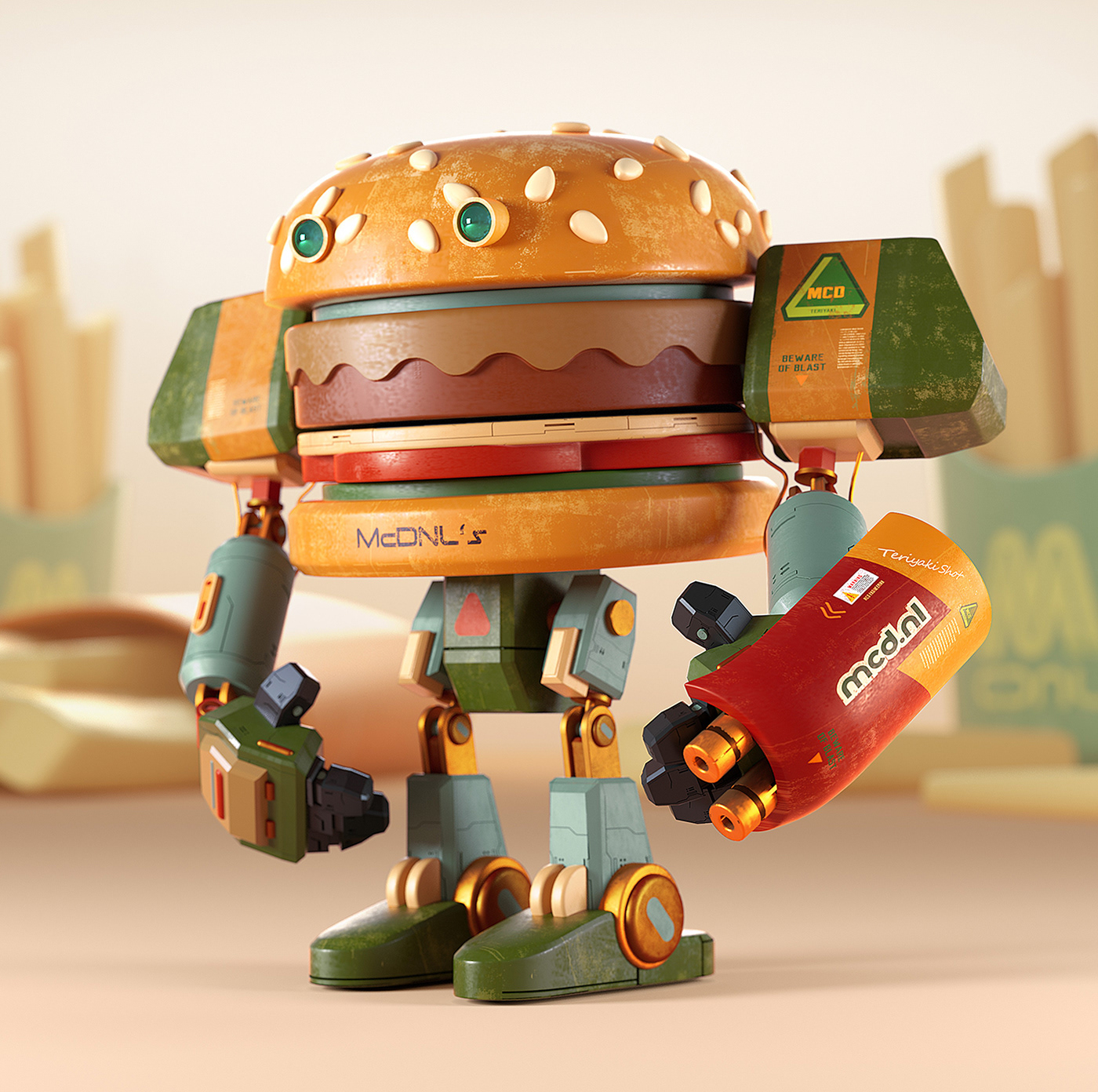 cinema4d octane burger Character