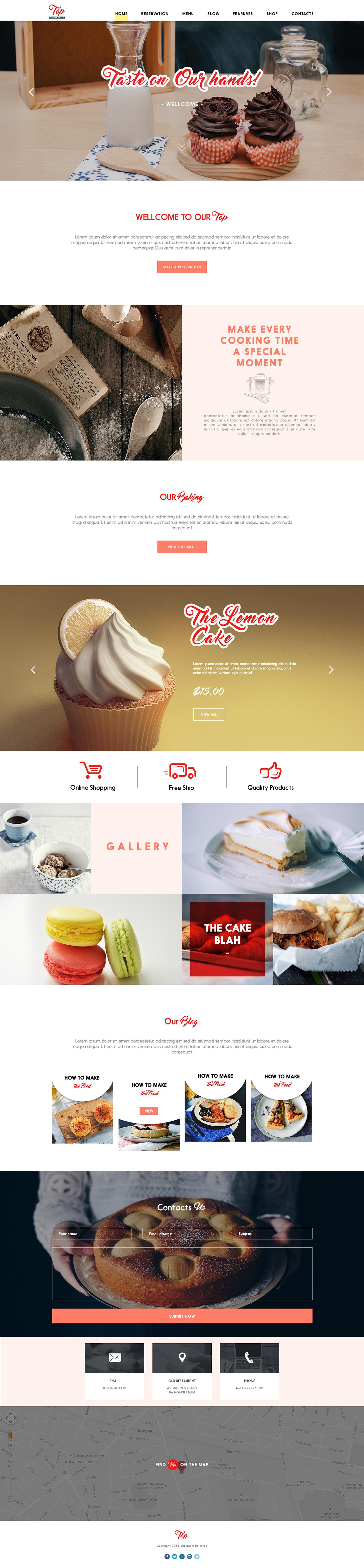 Restaurent Food  drink Web top