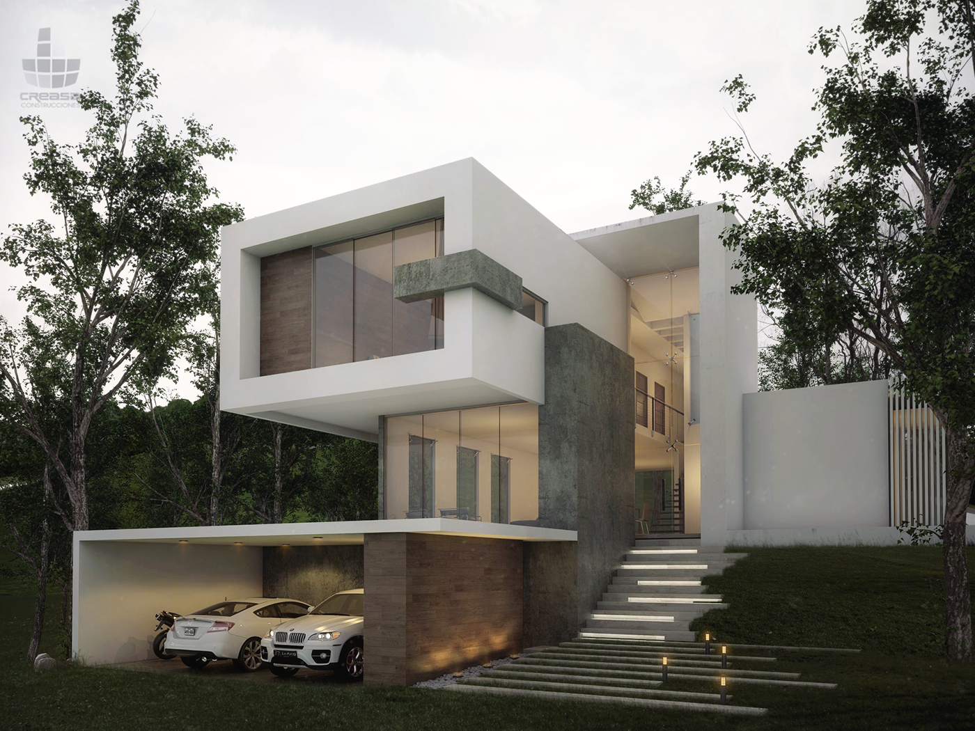 Forest house on behance for Modern forest house design
