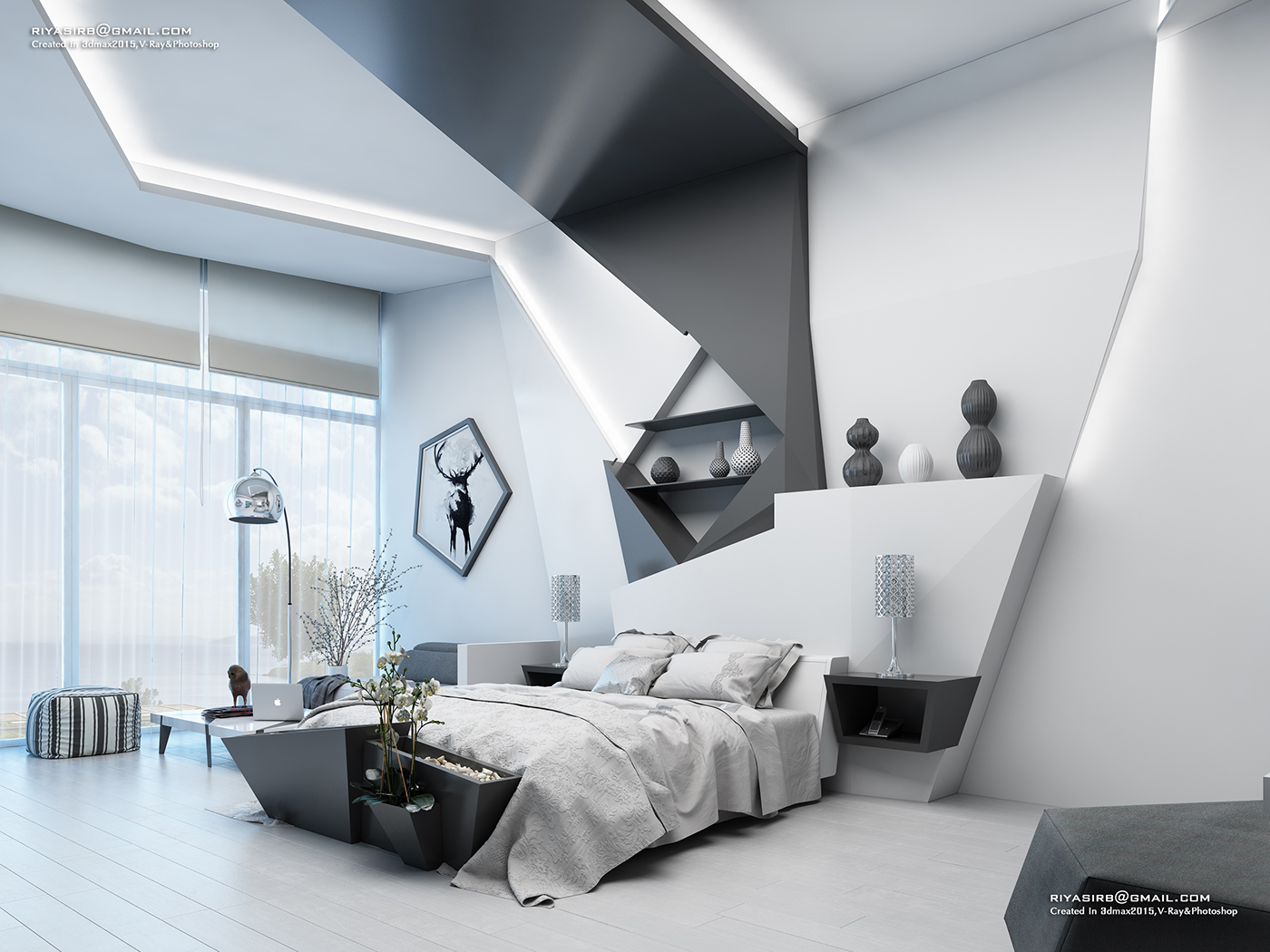 Charmant Futuristic Bedroom Design On Behance