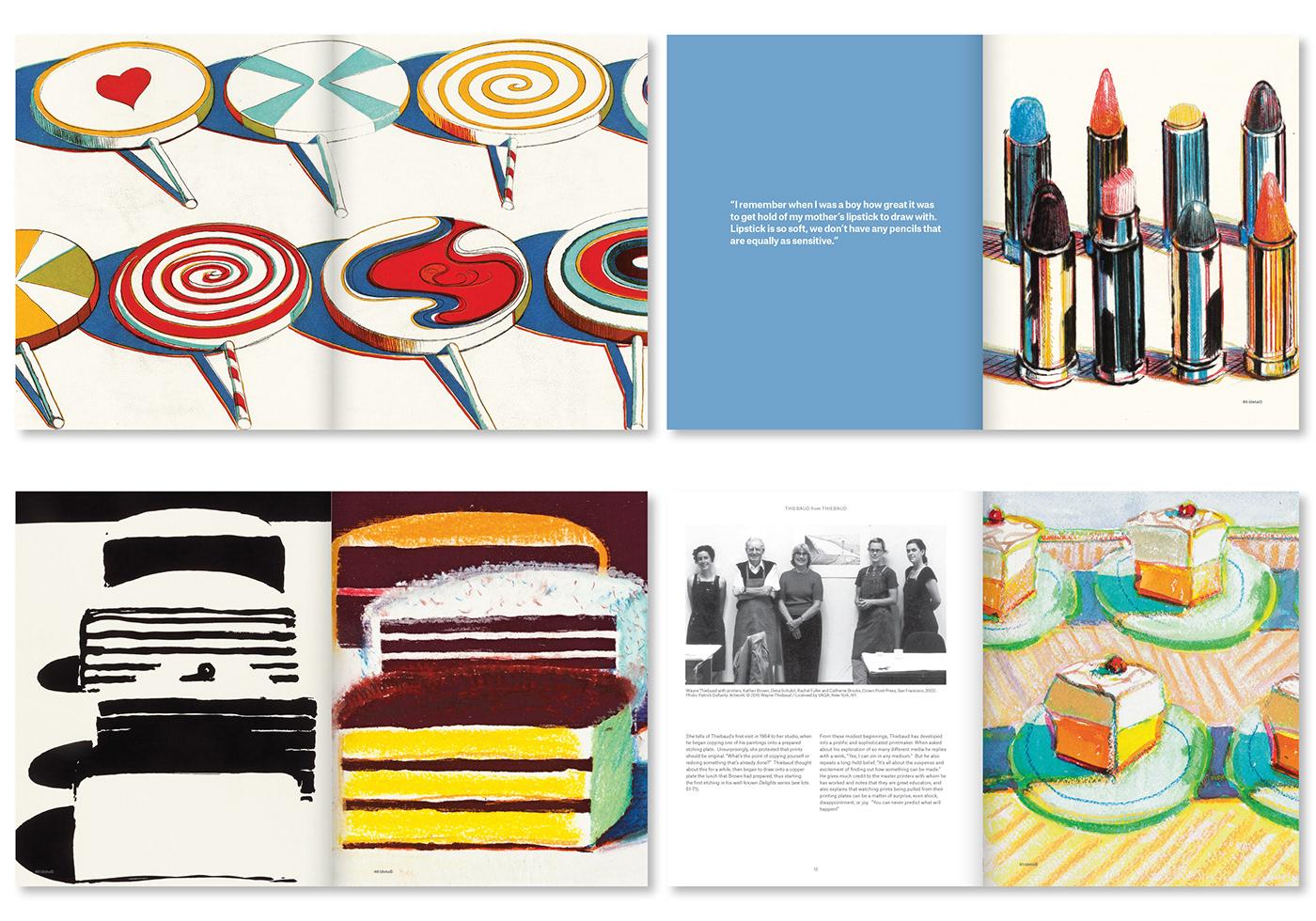 fine art catalogue auction catalogue  book design Wayne Thiebaud branding  Creative Direction  redesign typeography print design