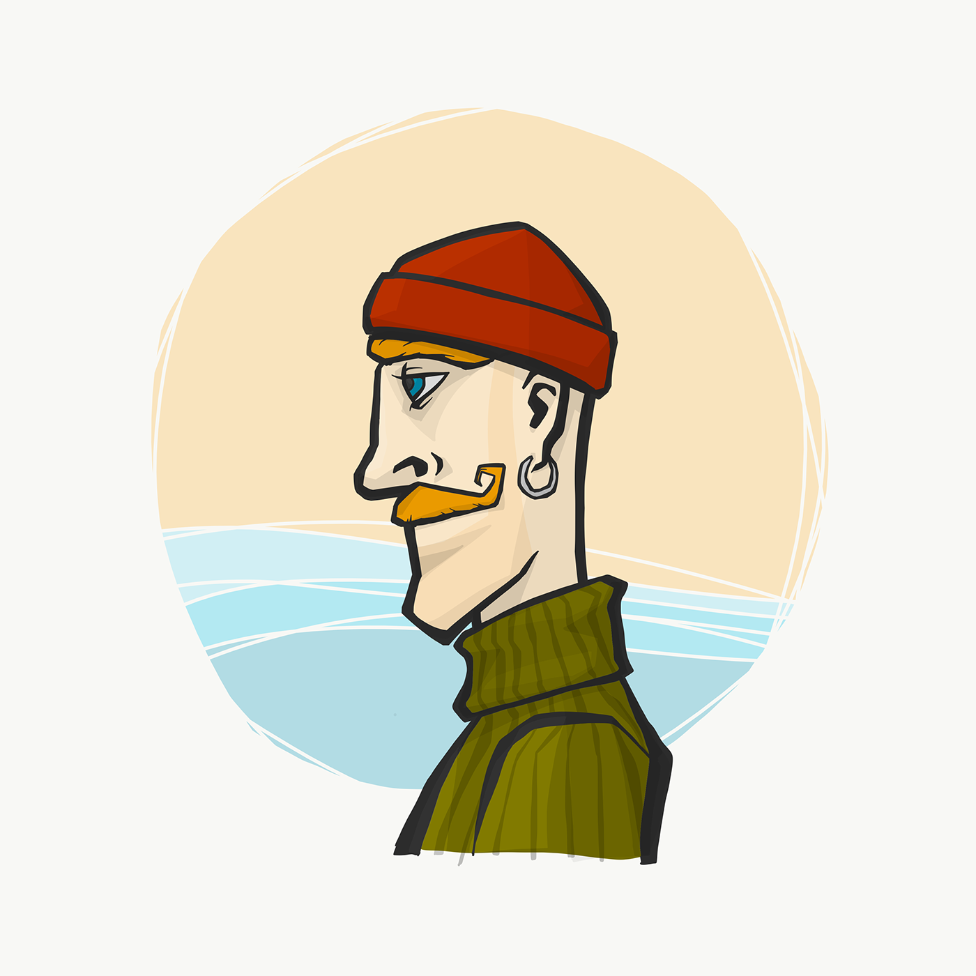 Drawing ,adobe draw,Character,Hero,ILLUSTRATION ,man,portrait
