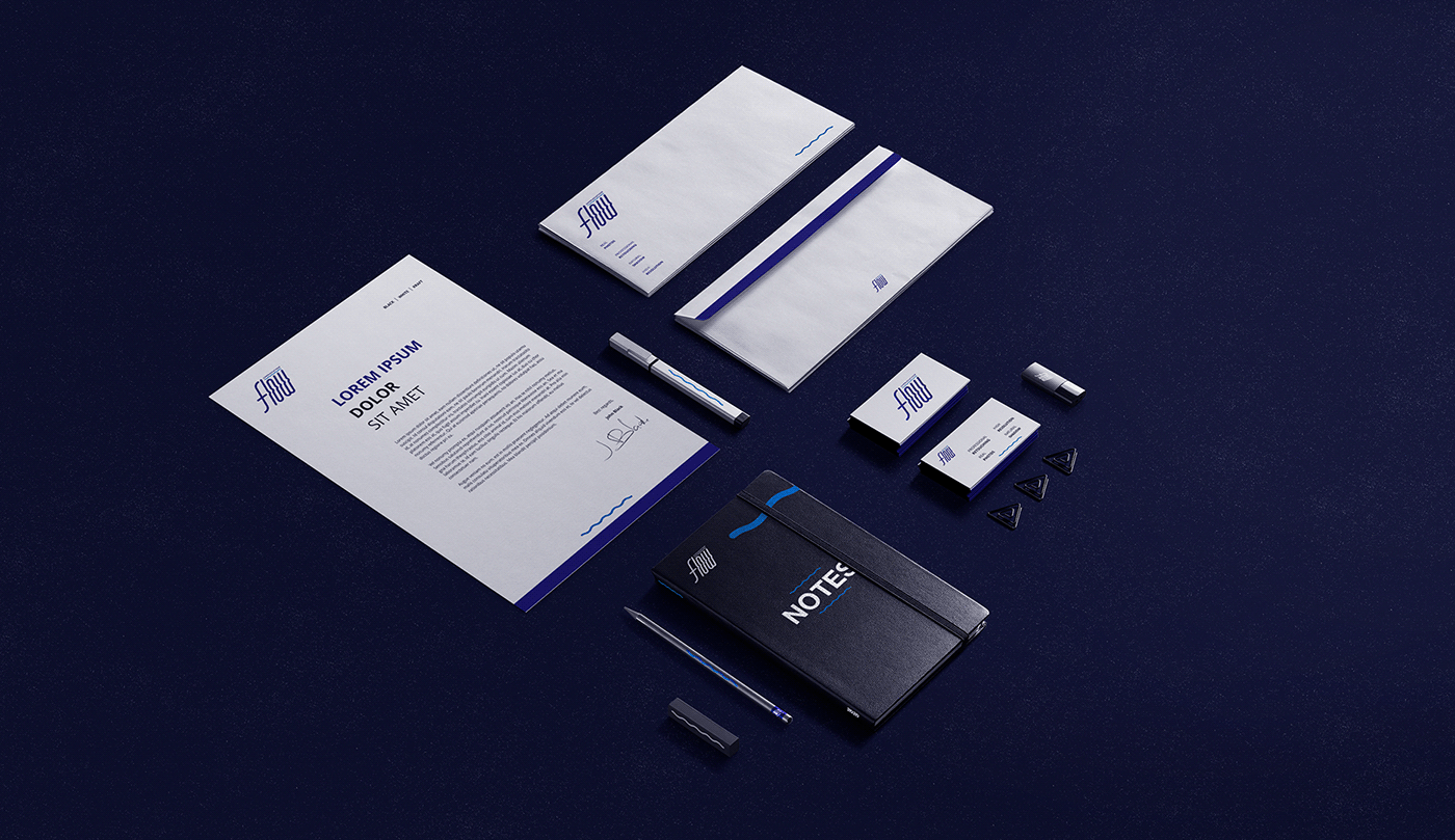 flow Logotype typography   logodesign communications agency logofolio presentation Modern logofolio 2020 trademarks
