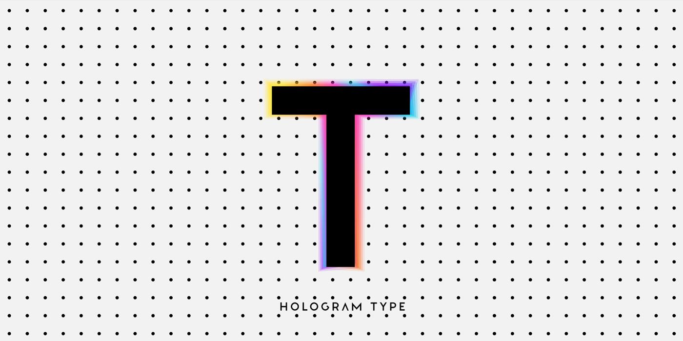 color font cosmos gradient hologram minimal modern otf svg font Typeface typography
