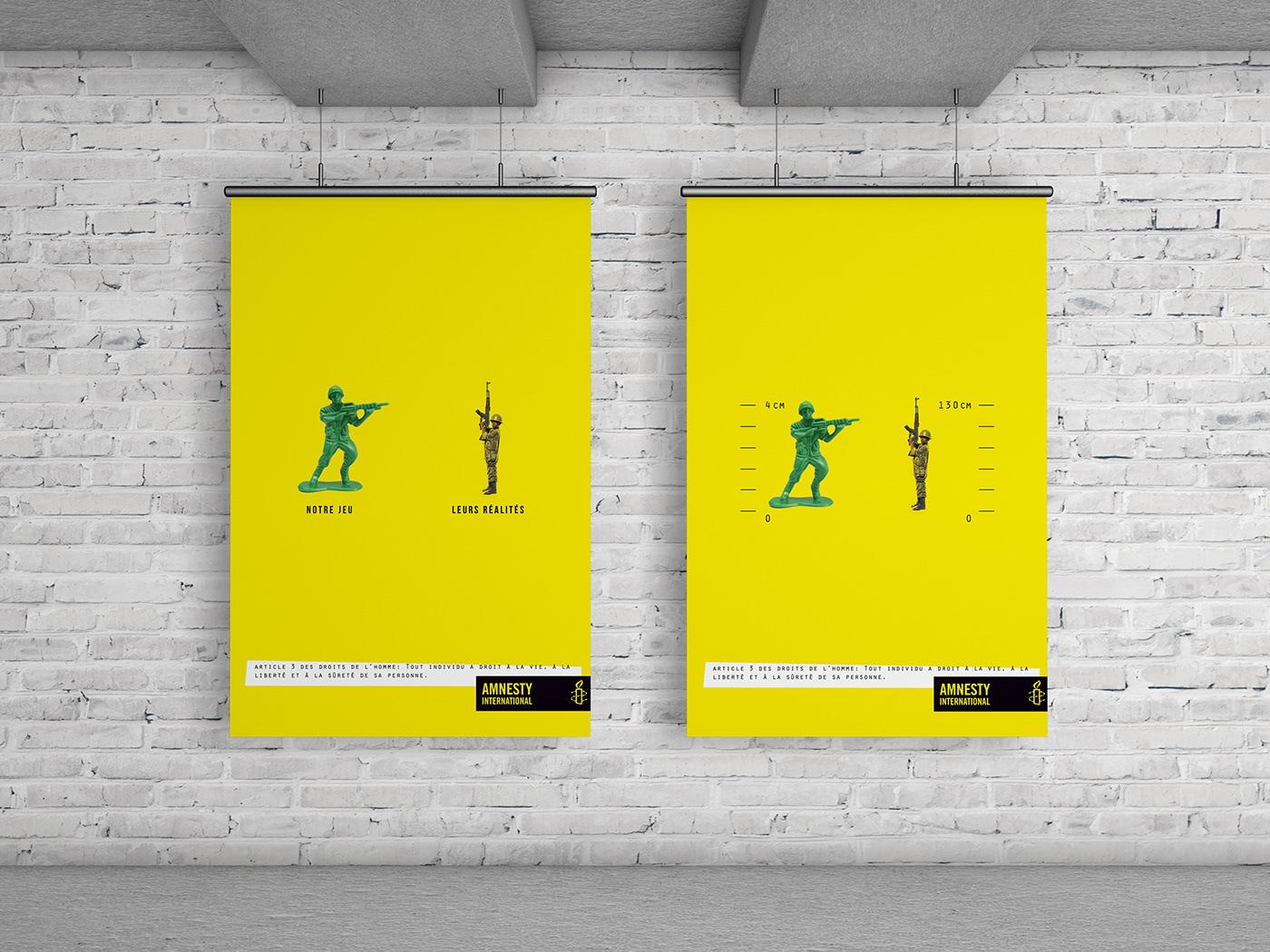 Amnesty International: Campaign, advertising. Bachelor advertising student: Laurène Beuckelaere