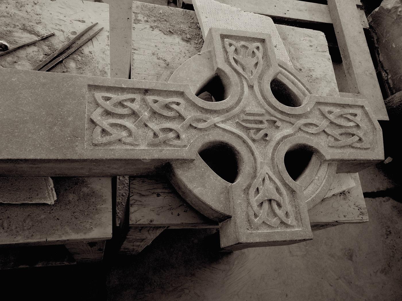 Grafwerk funeral art funerale kunst celtic cross Keltisch kruis irish cross Iers Kruis