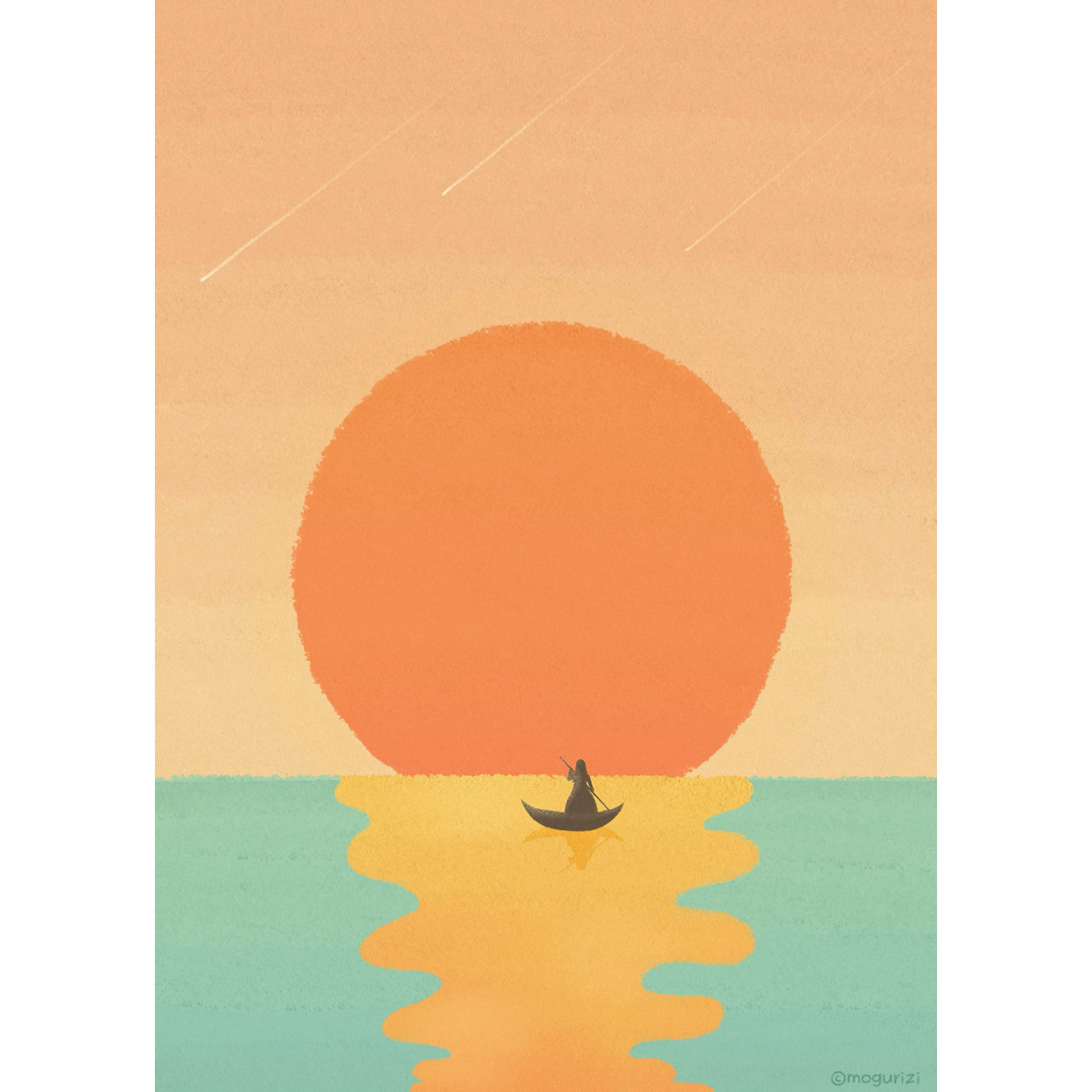 design digitalpainting ILLUSTRATION  postcard