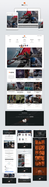 online store climbing Outdoor mountaineering Shop Branding blog design outdoor equipment stationary social campaign
