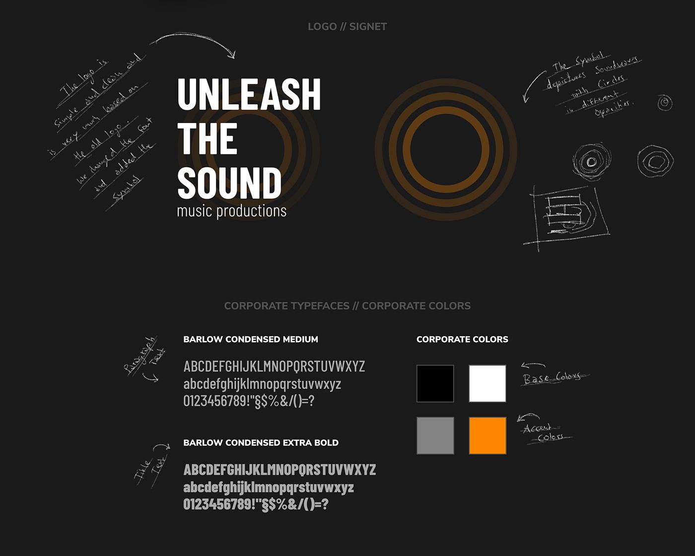 Unleash The Sound // Logo + Typefaces