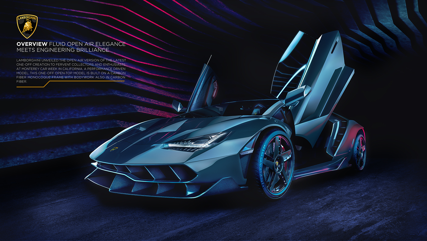 Lamborghini Centenario Roadster 2017 Full Cgi On Behance