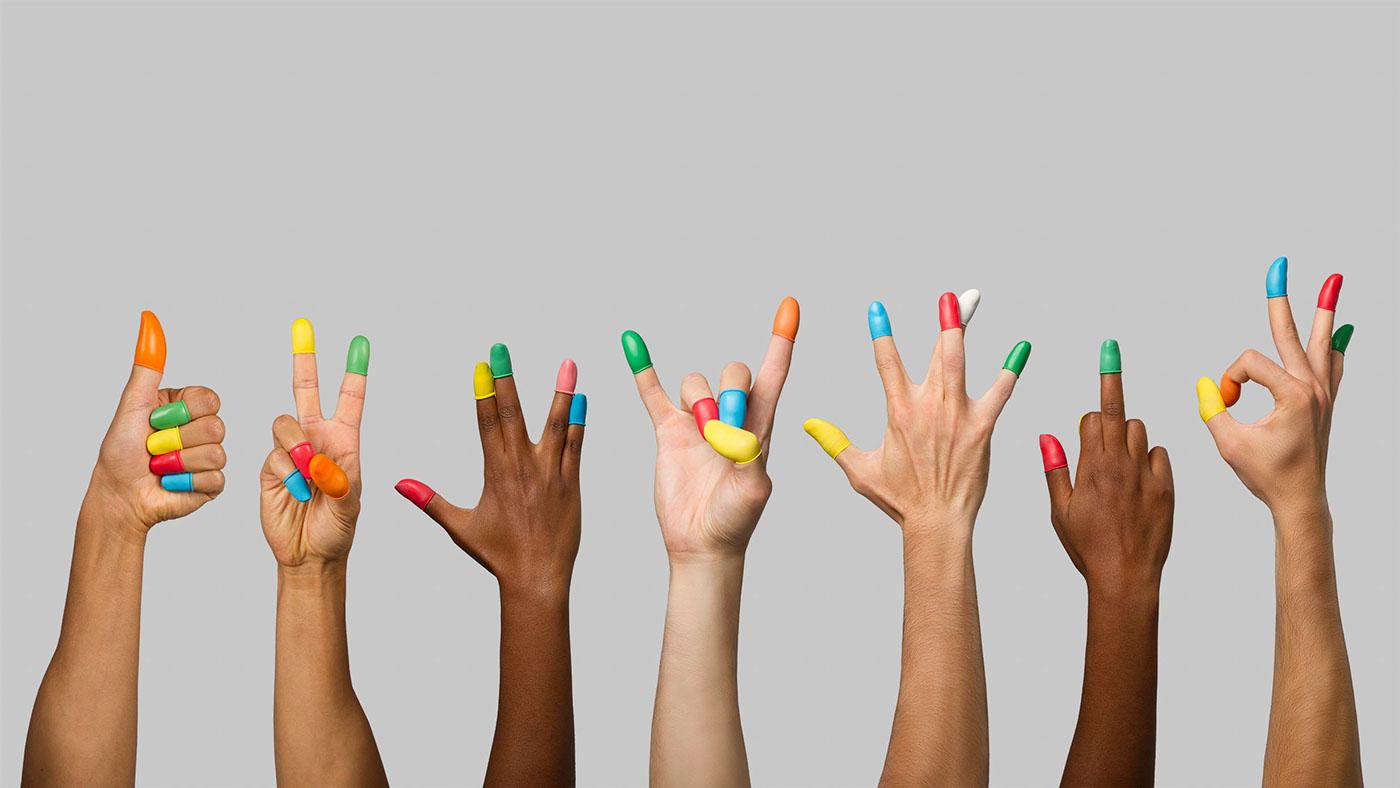 обои разноцветные пальцы картинки каждой