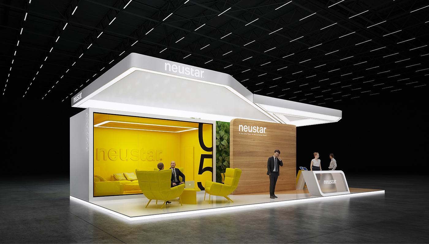 D Exhibition Stands : Neustar exhibition stand on behance