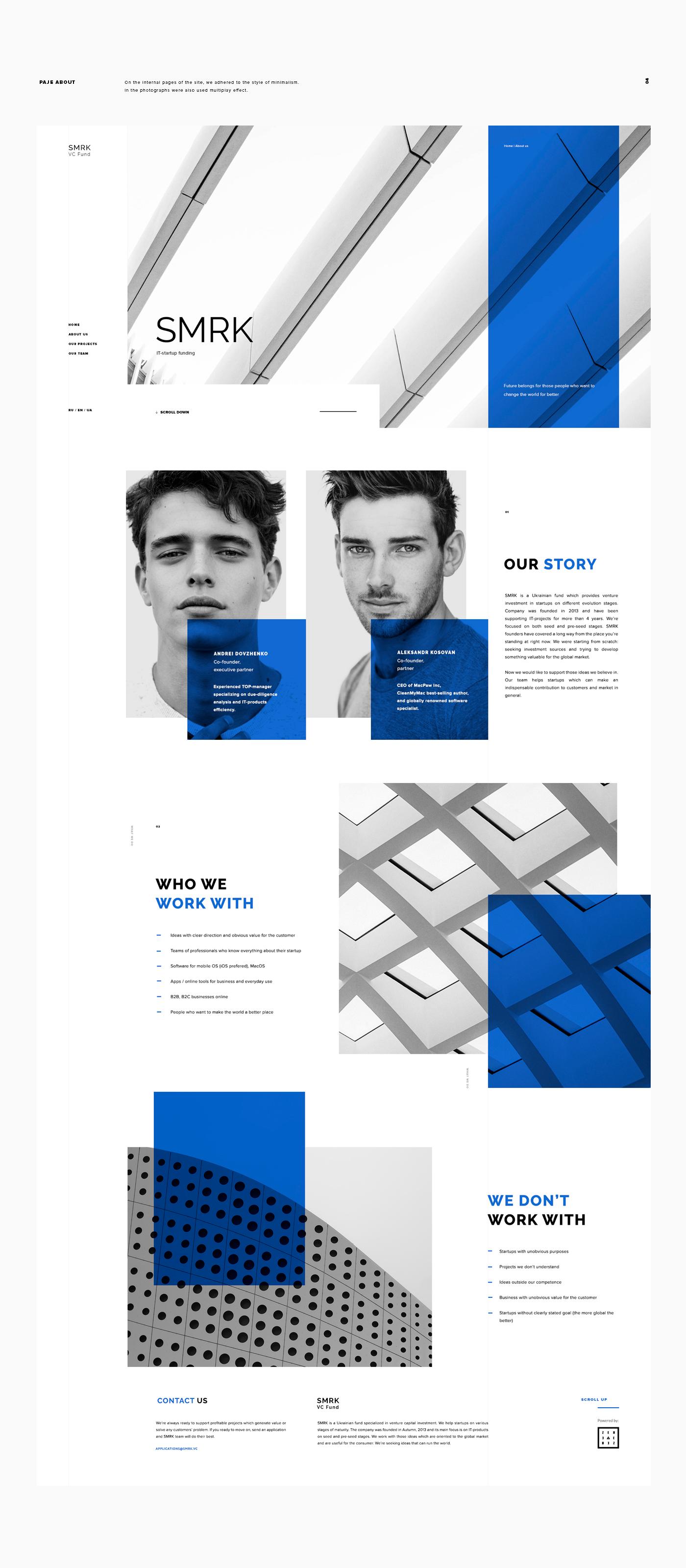 UI ux Webdesign minimal inspire animation  digital business Interface corporate