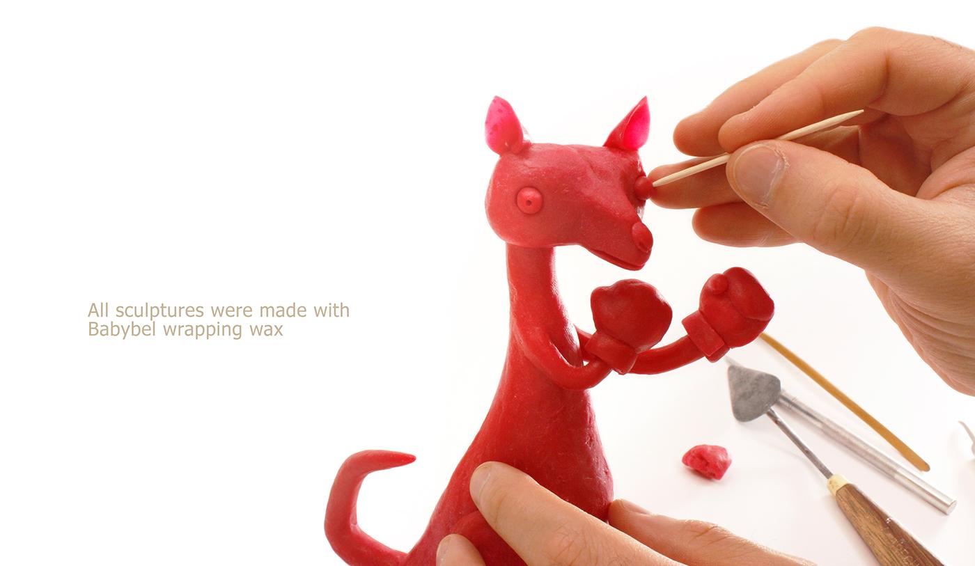 sculpting  babybel wax ILLUSTRATION  Advertising