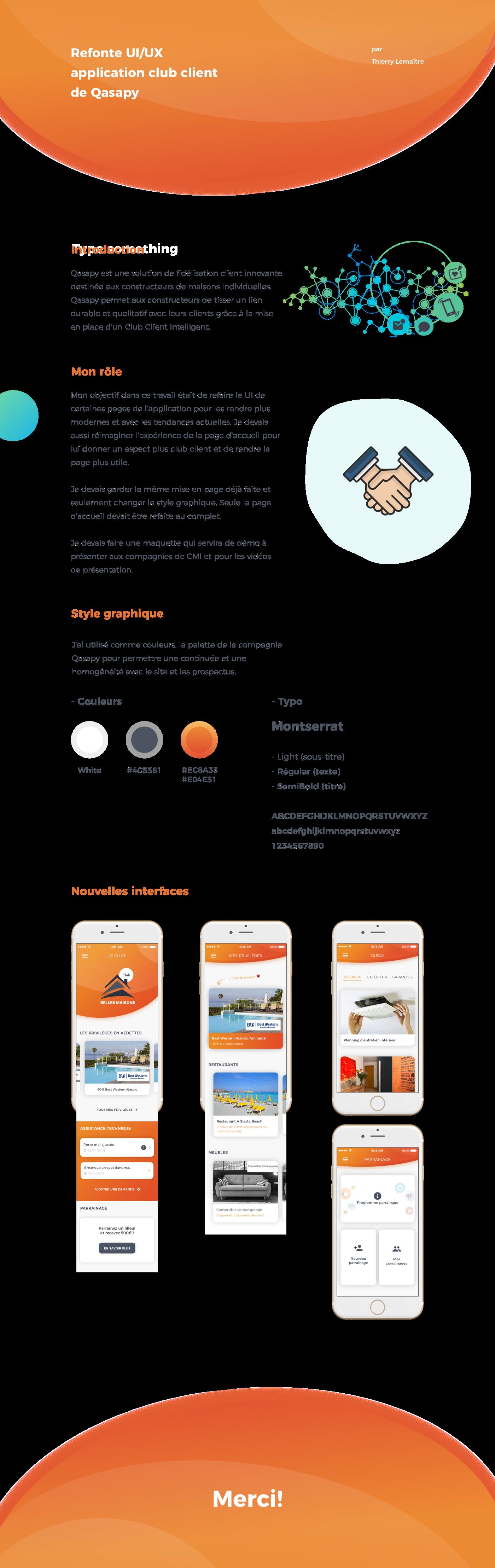 UI/UX club client refonte graphique app design