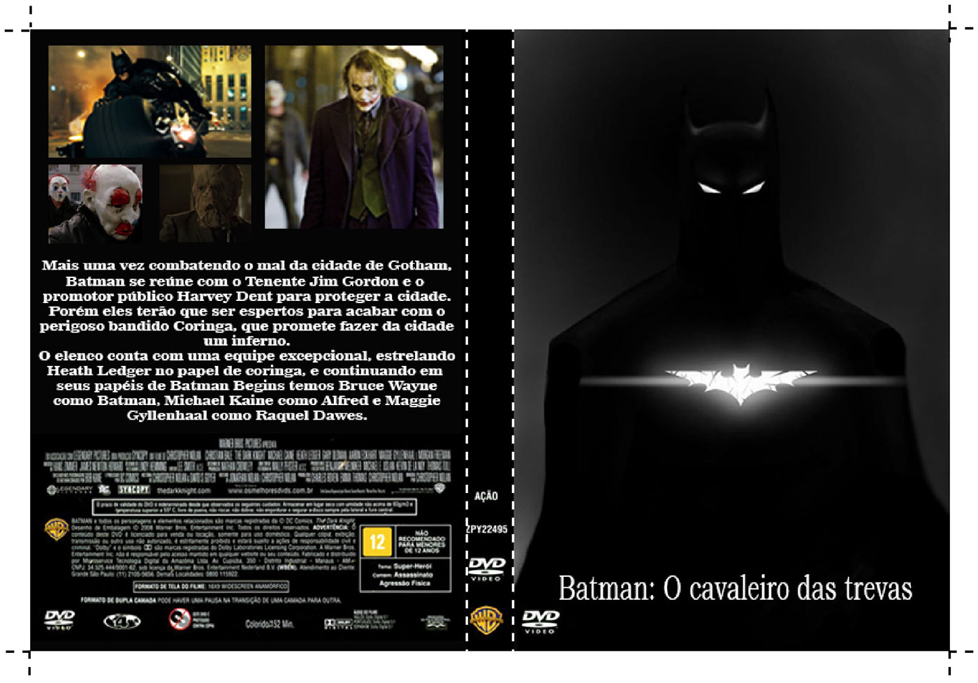 Releitura Da Capa Do Dvd Batman O Cavaleiro Das Trevas On Behance