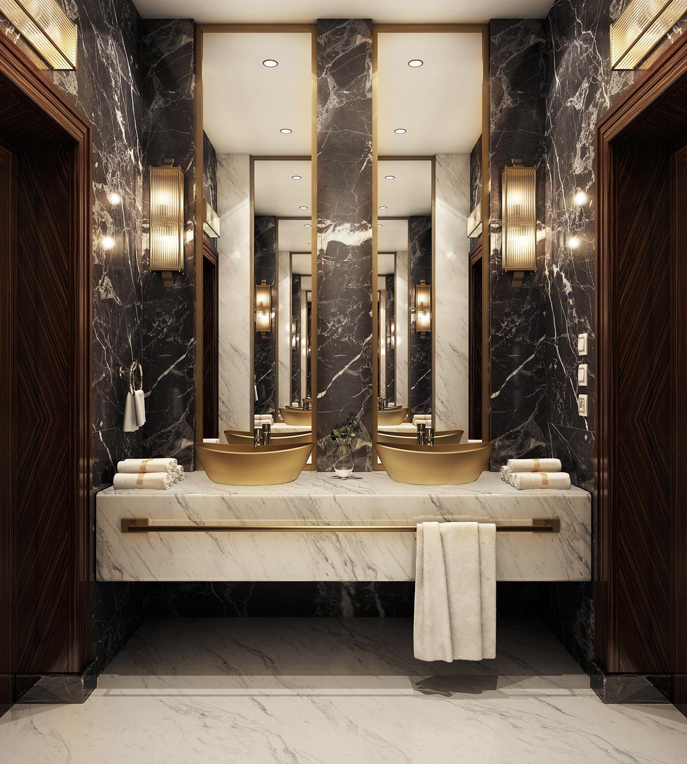 Modern Luxury Bathroom on Behance