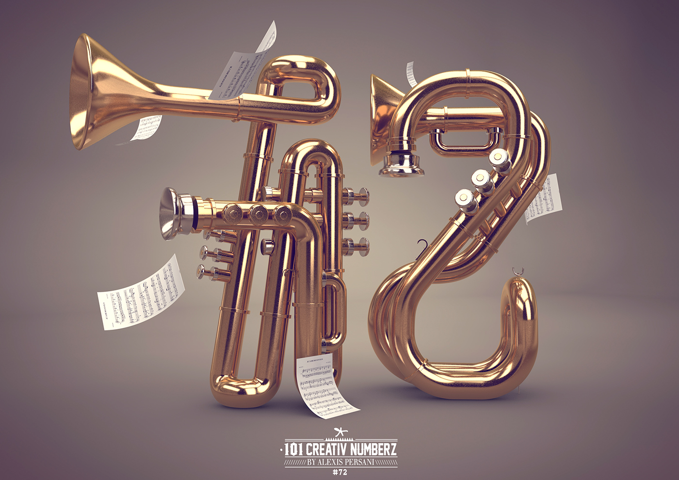 Outstanding 101 Creative Numbers Typography by Alexis Persani 66