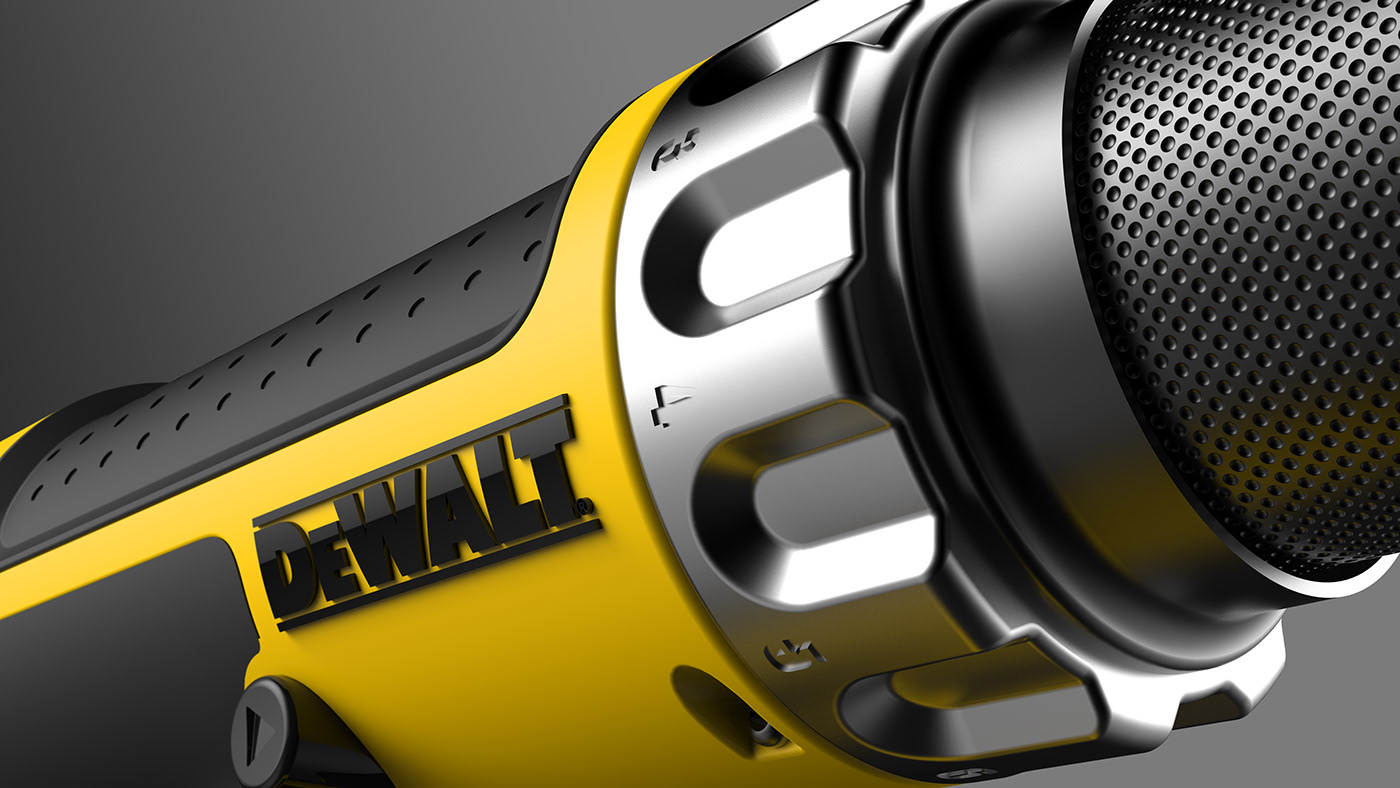 drill Drilling Machine driver Electronics industrial design  powertool productdesign tool yellow