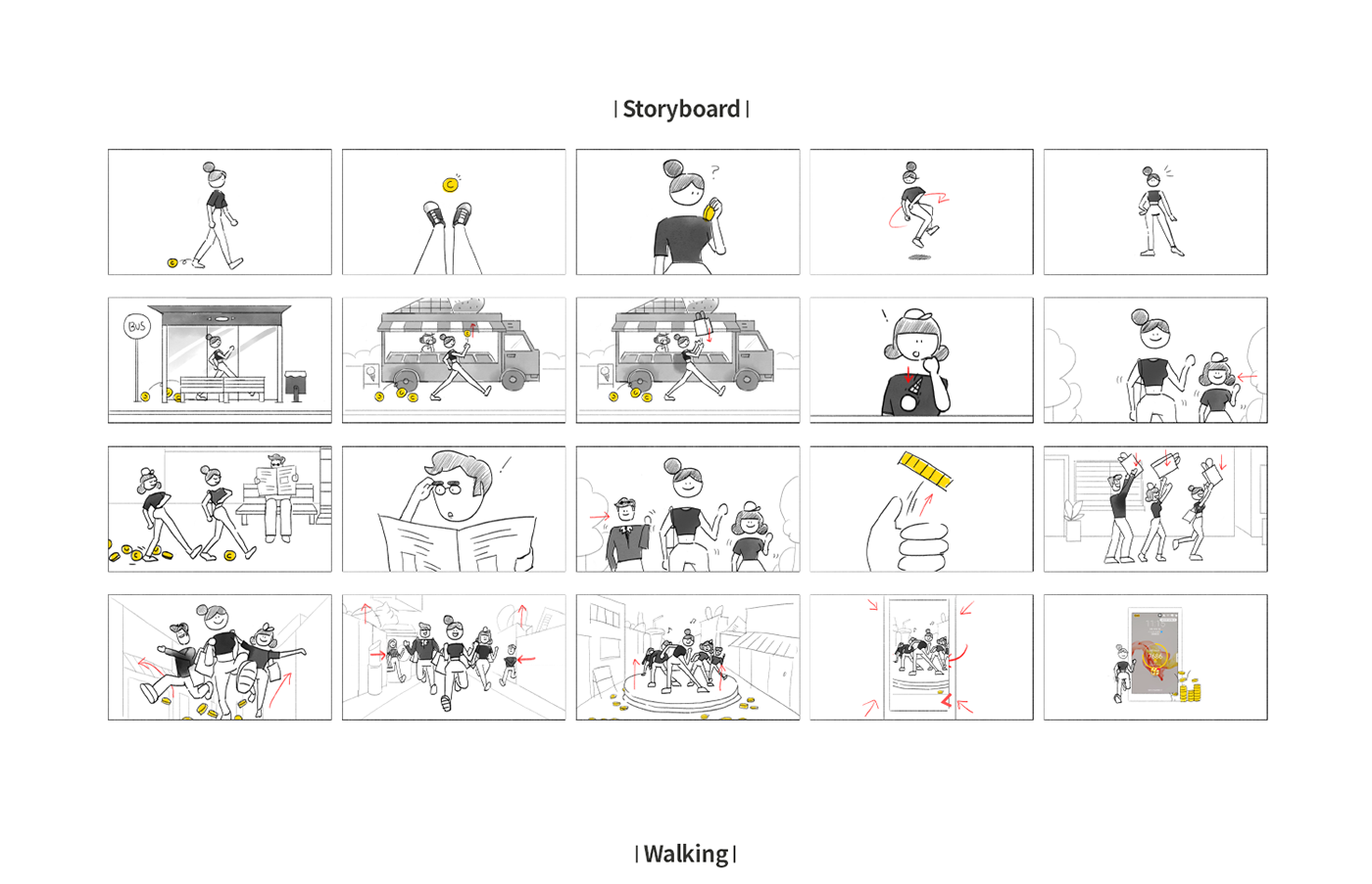 3D 3dcharacter Brandfilm cashwalk Character 브랜딩 캐릭터 c4d graphicdesign 캐시워크