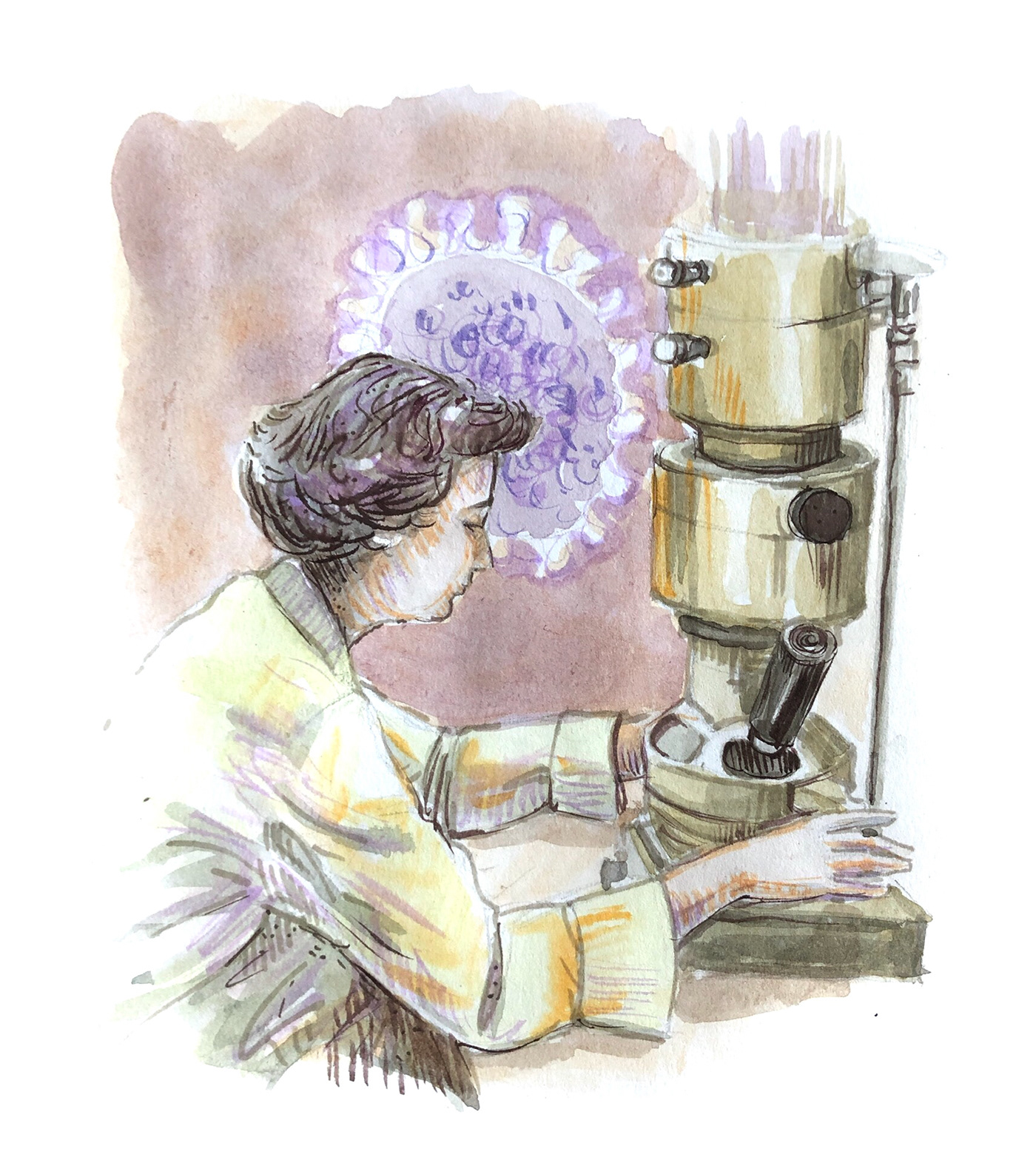 Editorial Illustration scientist portraits scientists illustrated watercolor illustration watercolor portraits  women scientists