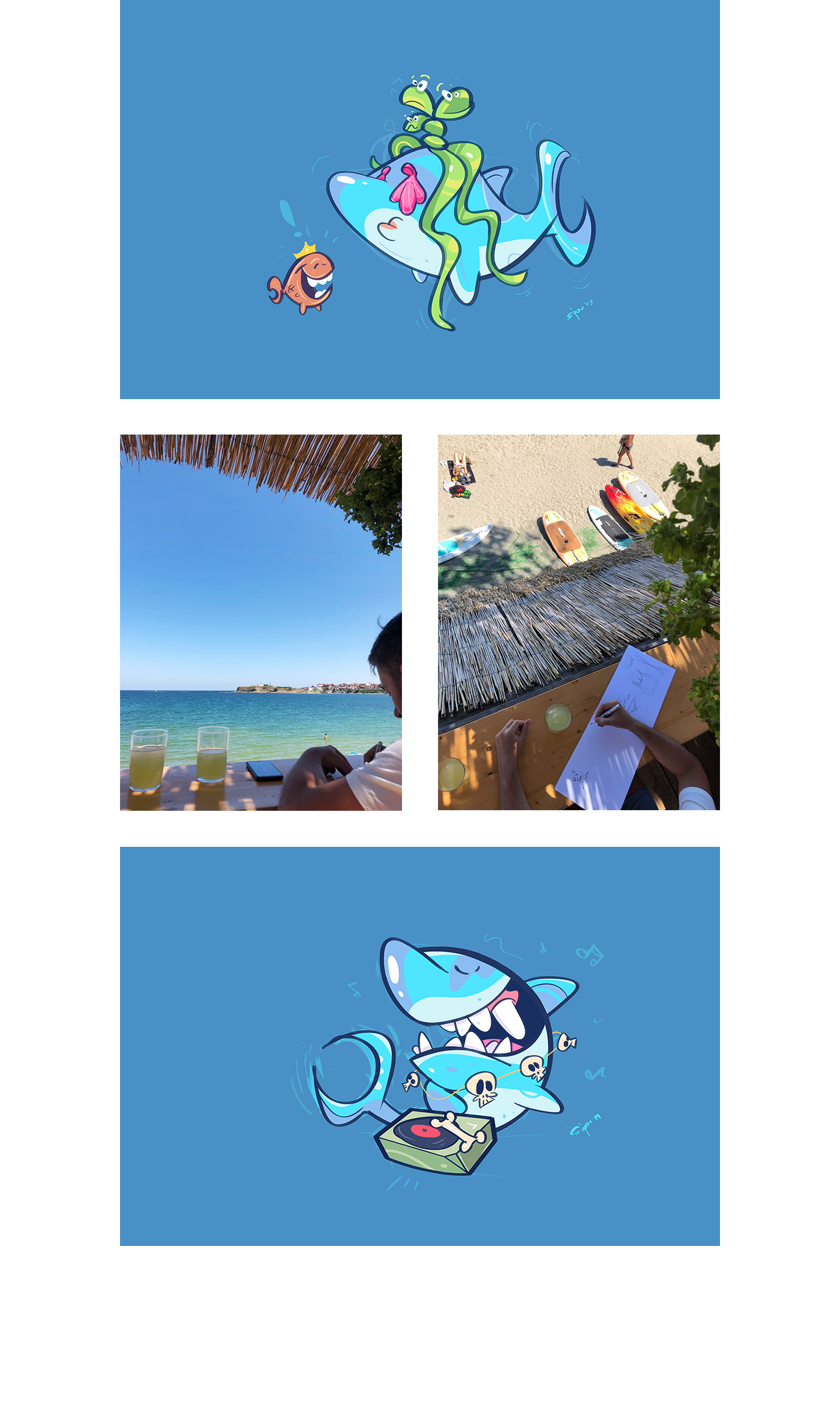 sea characters design beach study Drawing  sketch characterdesign