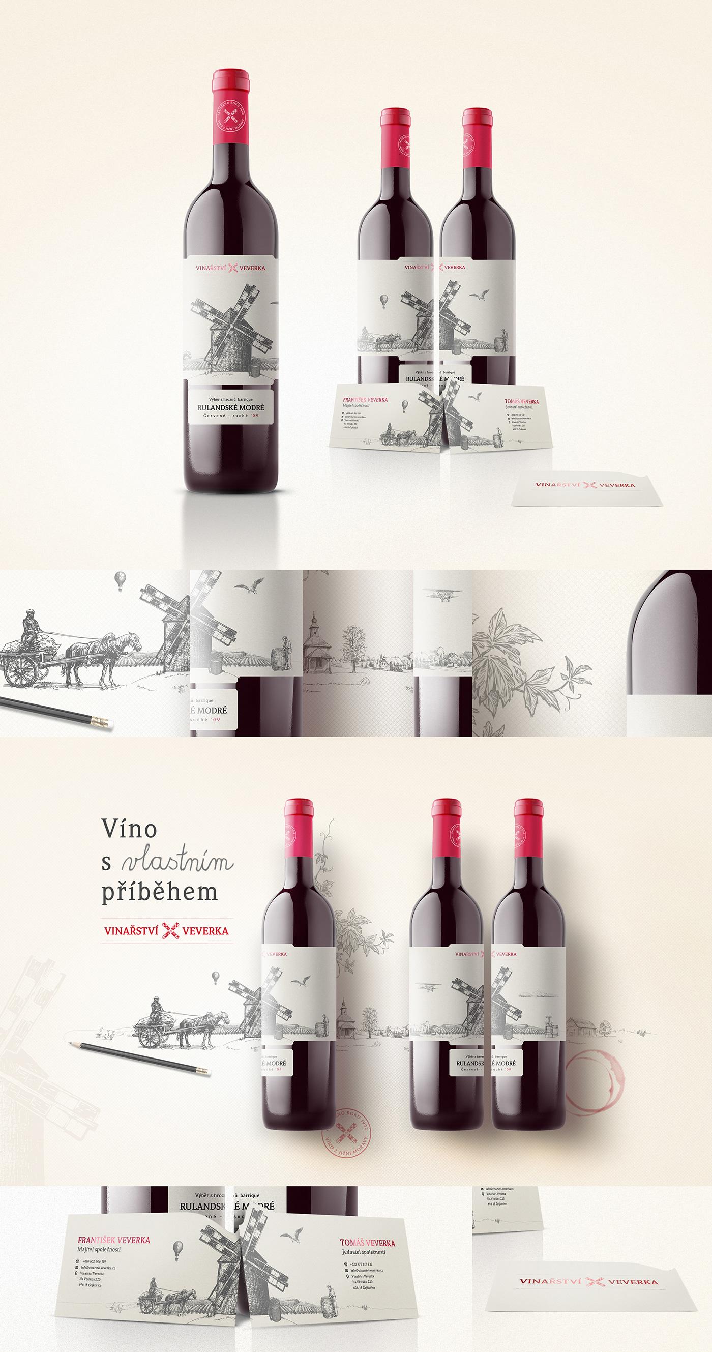 wine vineyard mill farm field bottle Drawing  sketch Label etiquette
