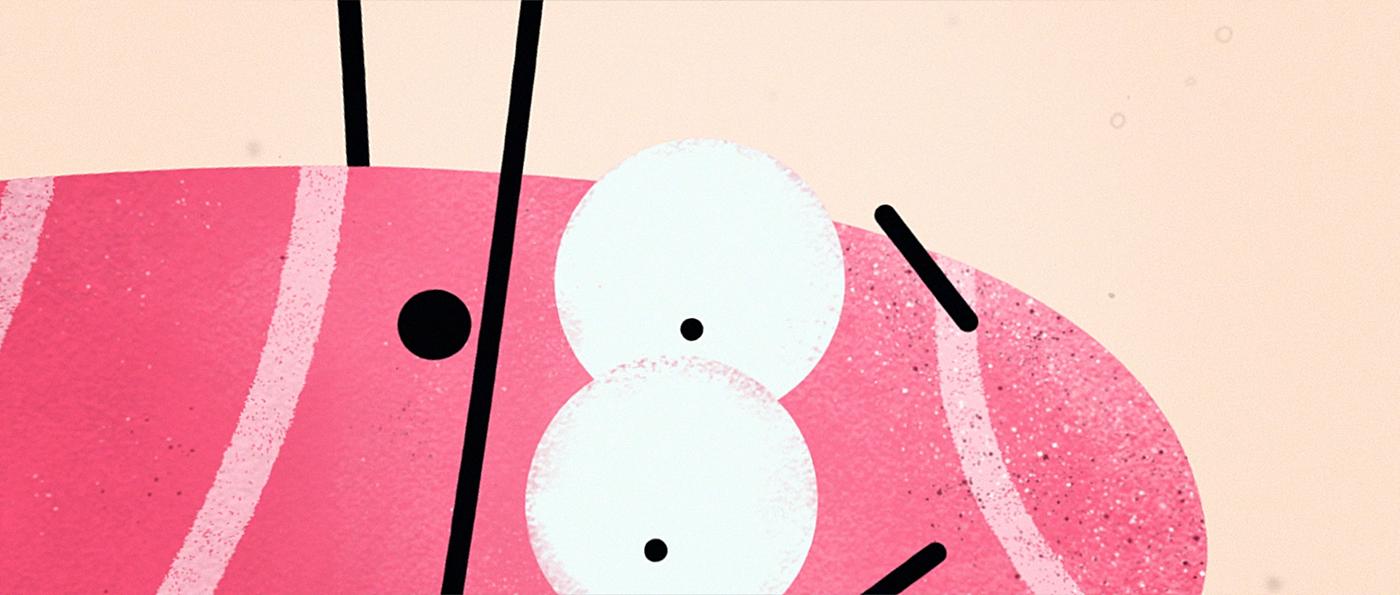 motion design animation  short Film   rock pebbles Character