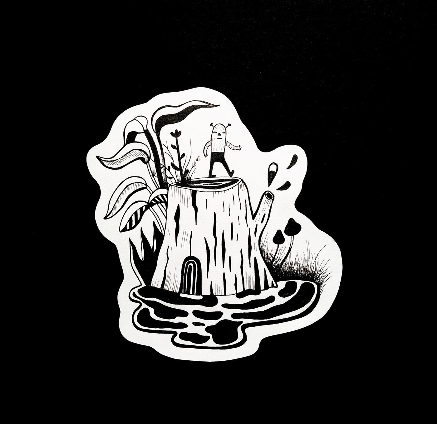 ILLUSTRATION  characterdesign handdrawn blackwork design artwork surrealism abstract geometricart blacklines