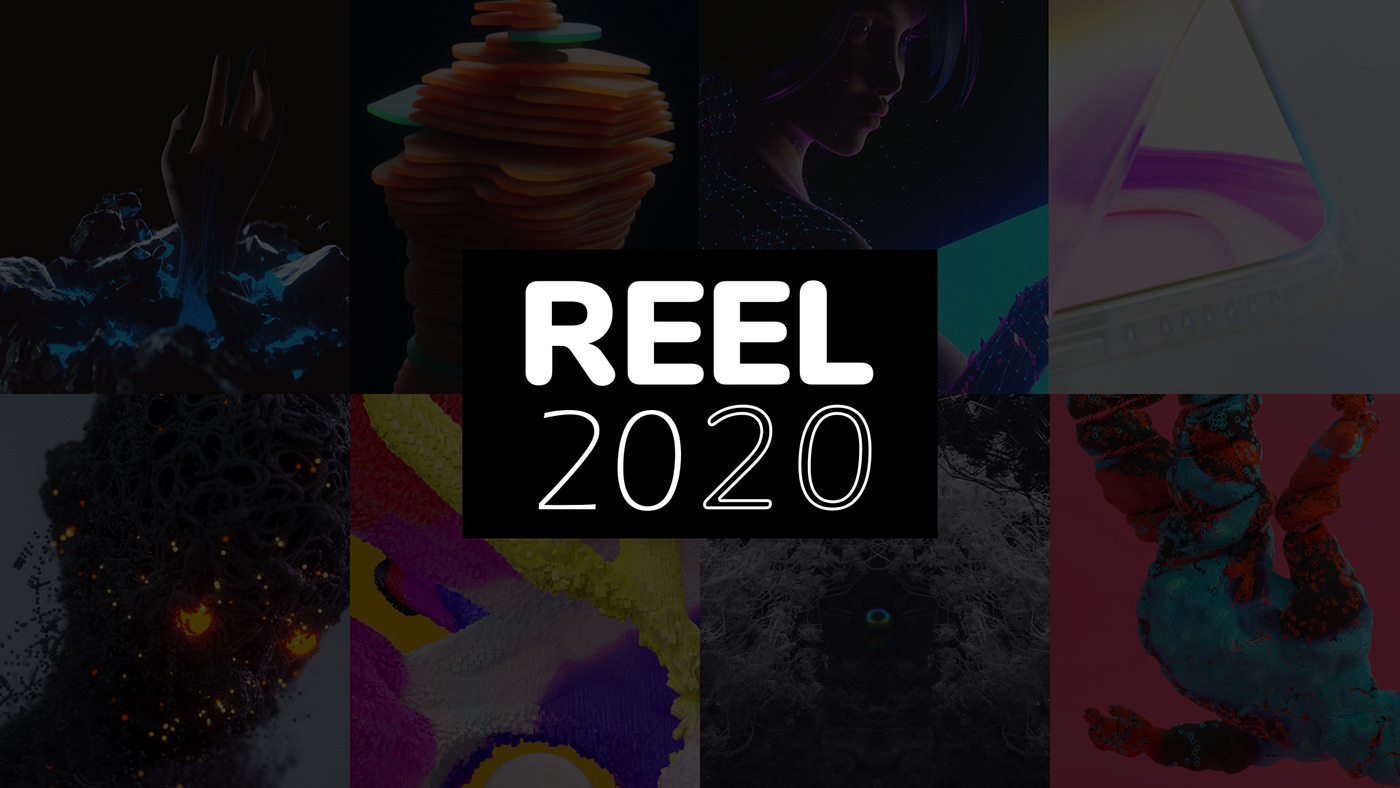 3D abstract animation  colors cyber design motion neon reel bio