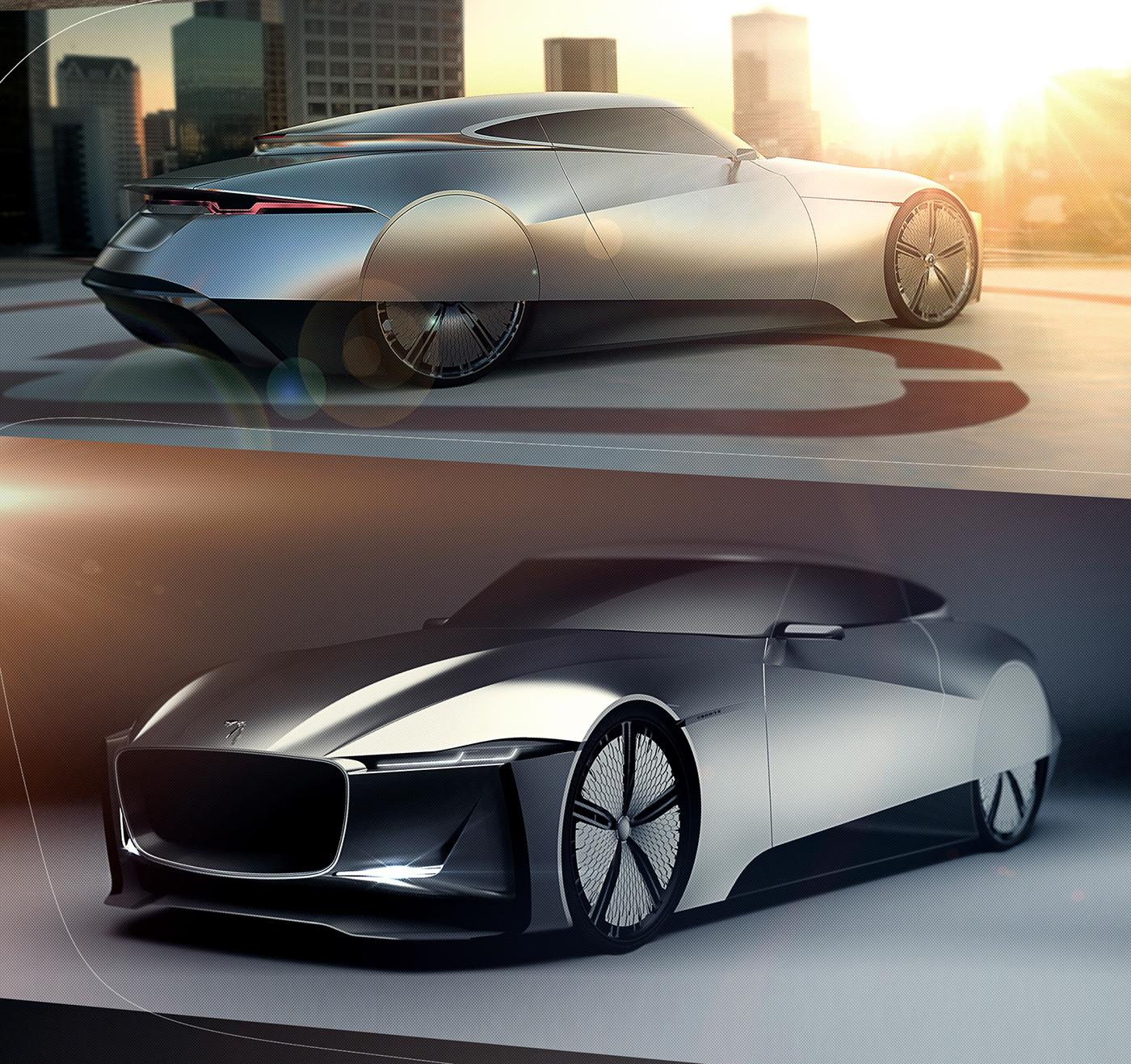 Jaguar Concept: Jaguar E-Luxury Concept On Behance