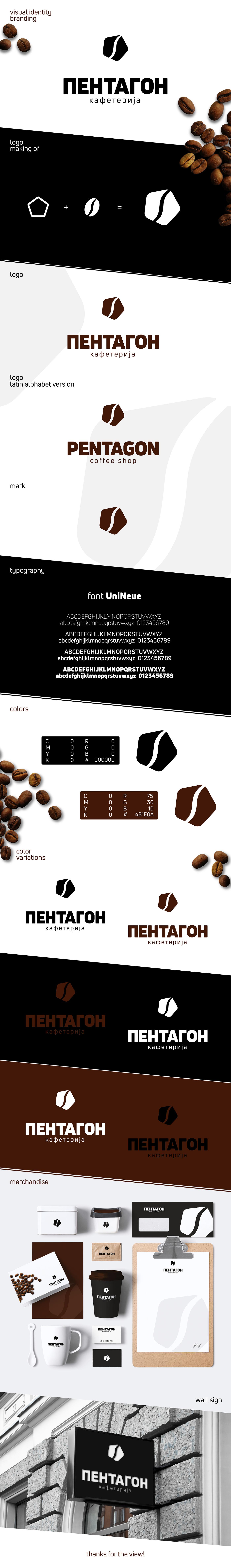 Coffee shop cafe drink bar logo branding  black White brown