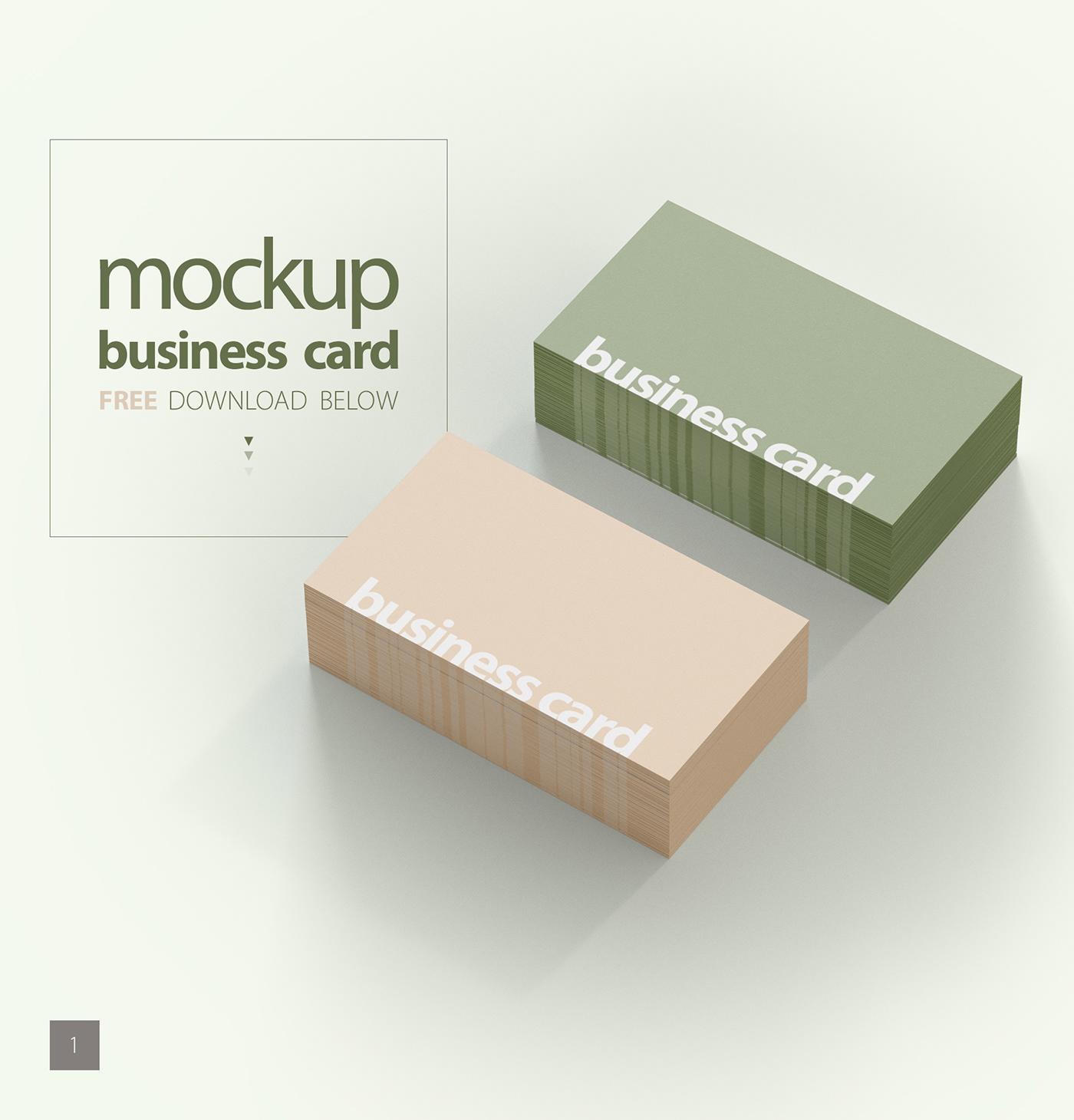 Free mockup business card on behance colourmoves