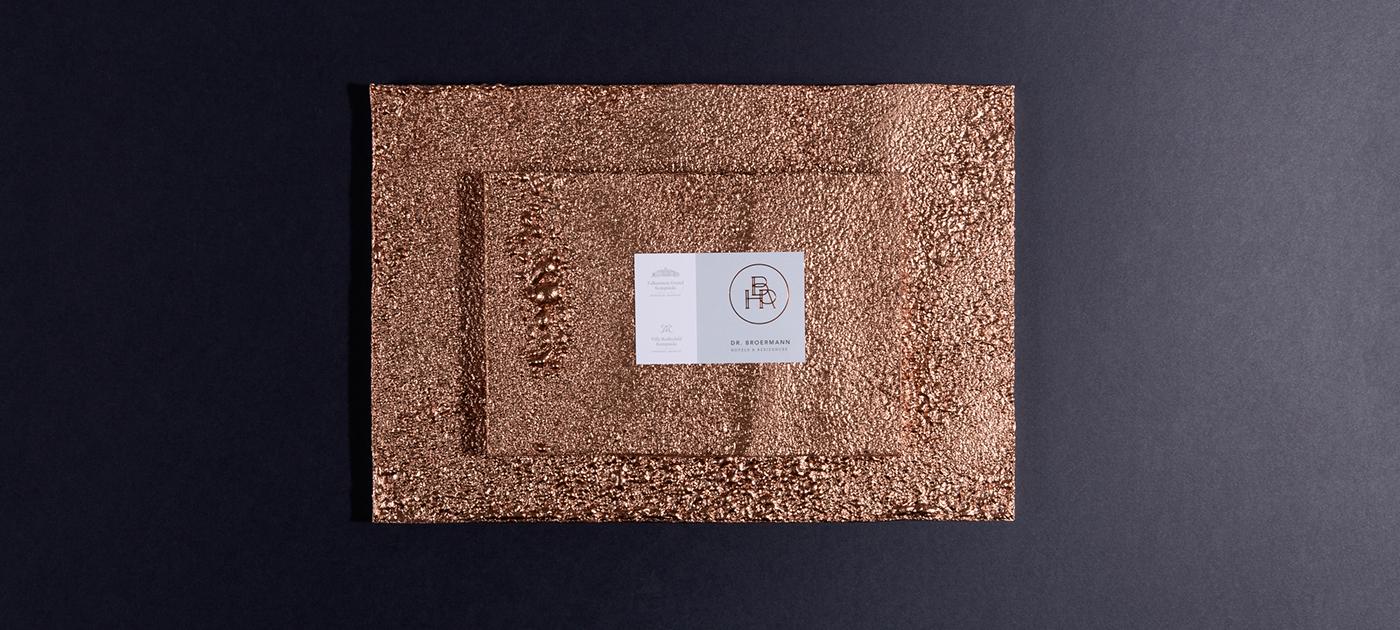 hotel residences gastro Deluxe Hotelerrie guests emboss print businesscard letter Website Web hotelbranding identity