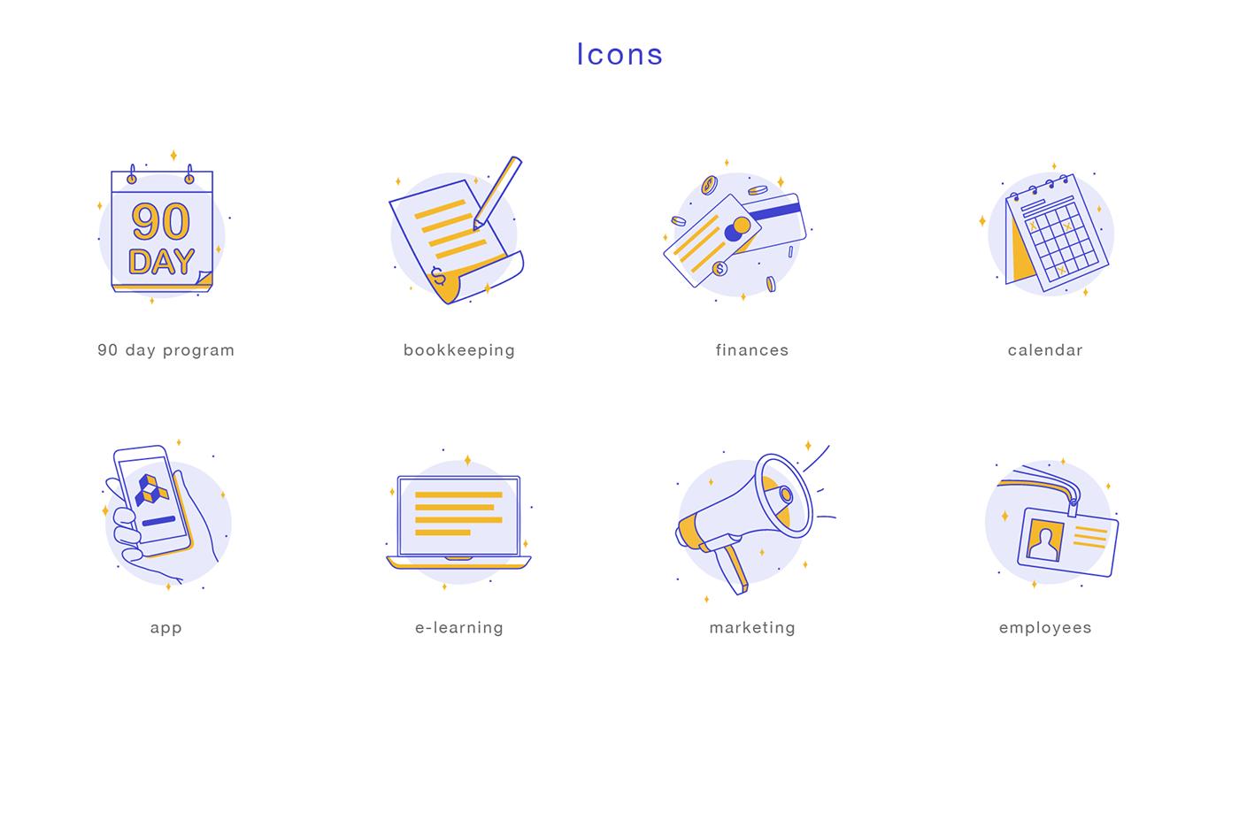 app design UI ux icons iconography illustrations