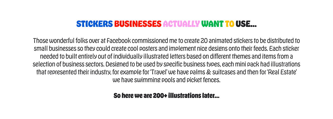 animation  Character Character design  Emoji facebook lettering motion graphics  social stickers sticker typography