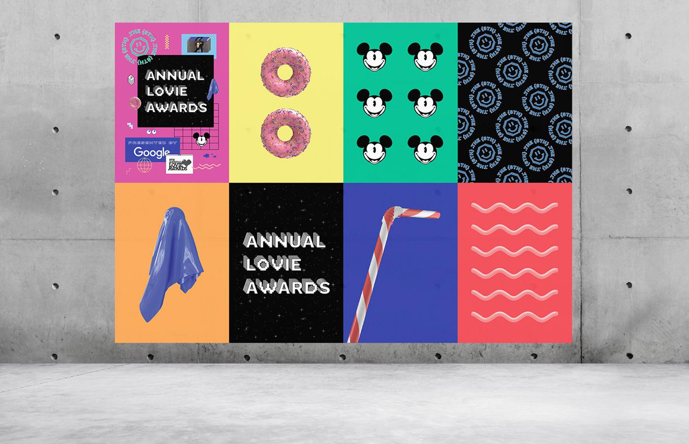 lovie awards  google poster identity graphic design  3d animation motion graphic Internet retro design graphic art