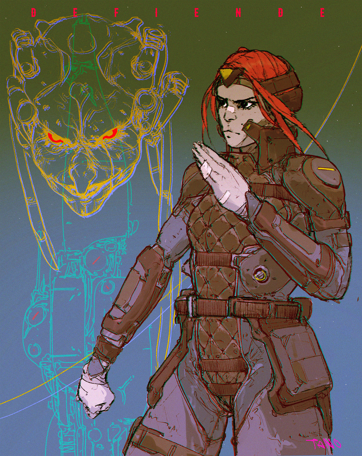 Cyberpunk fantasy tanobonfanti