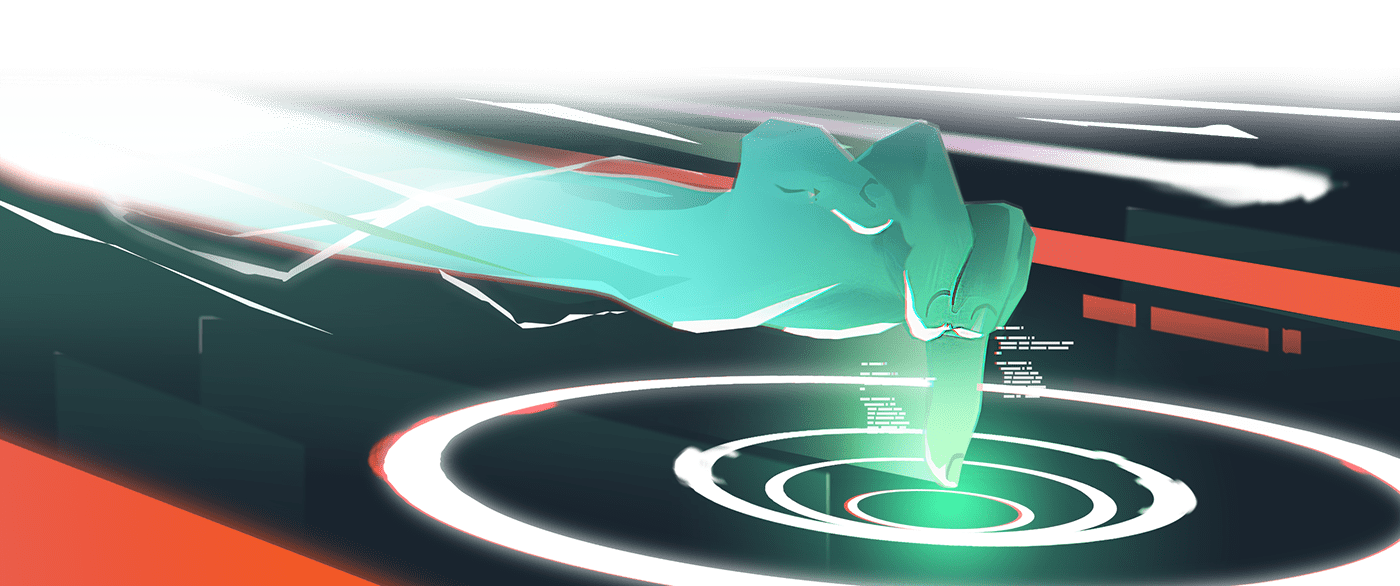 3D Amazon animation  effects light race robot
