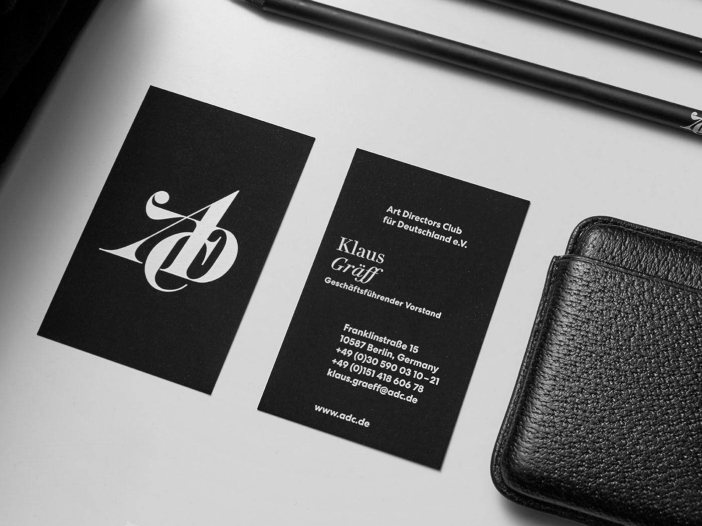 rebranding Art Directors Club logo Stationery editorial design  branding  Interface merchandise