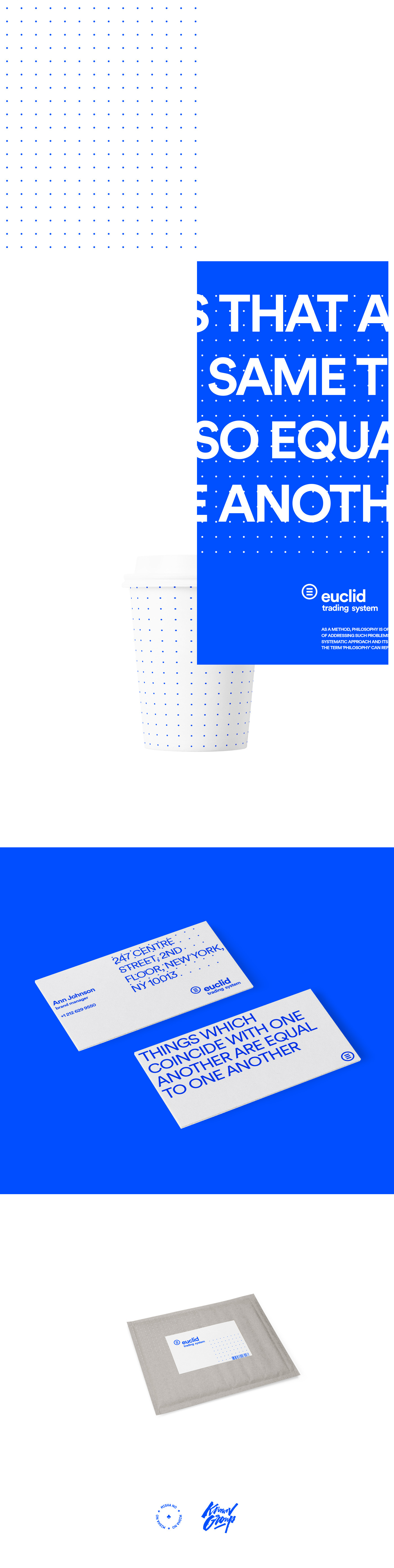 redesign identity euclid trading system logo business card